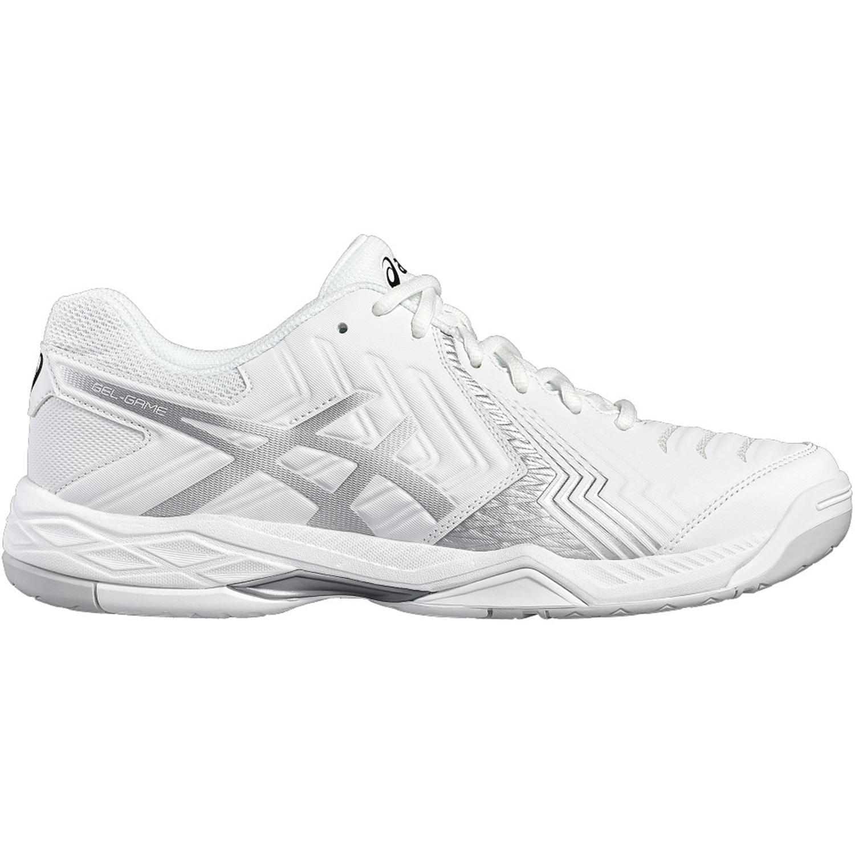 half off 3e066 a521a Asics Womens GEL-Game 6 Tennis Shoes - White Silver - Tennisnuts.com