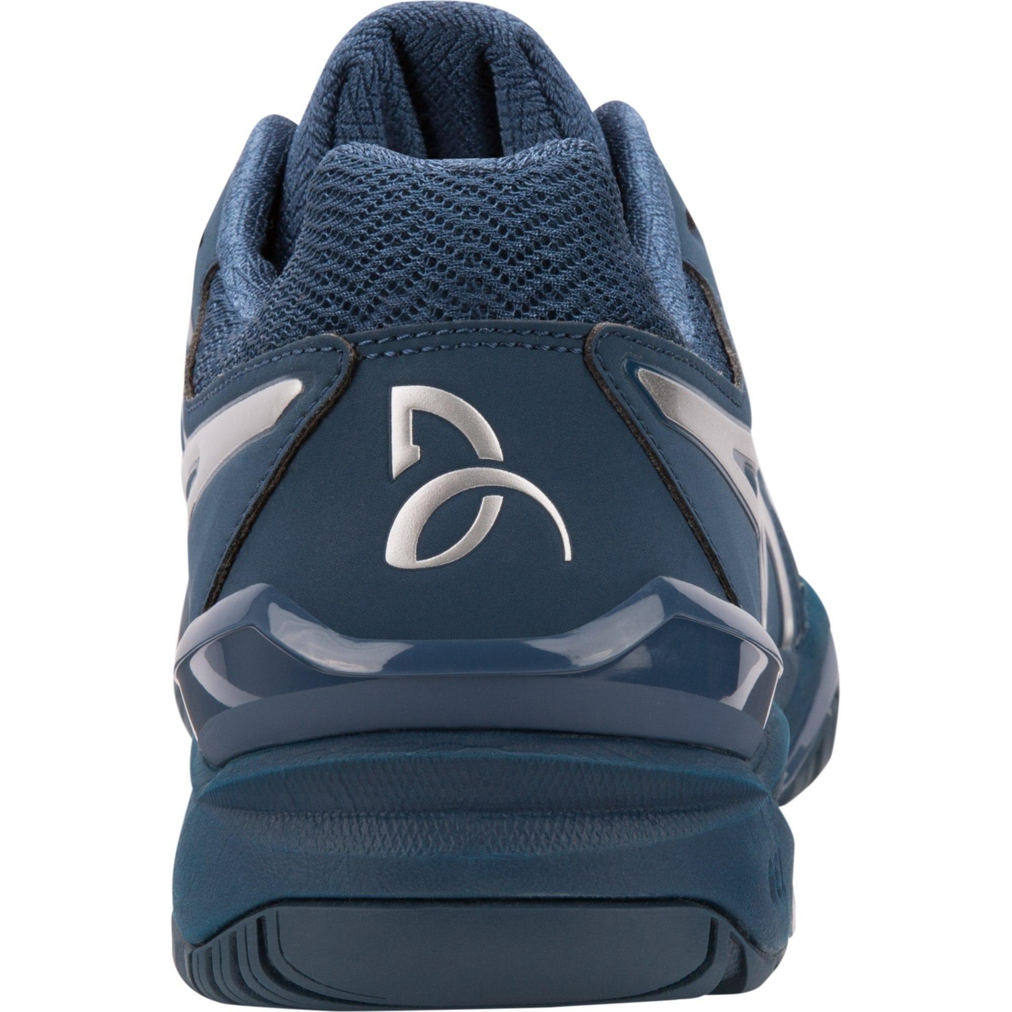 8717e003fc3b Asics Mens GEL-Resolution Novak Tennis Shoes - Peacoat Silver ...