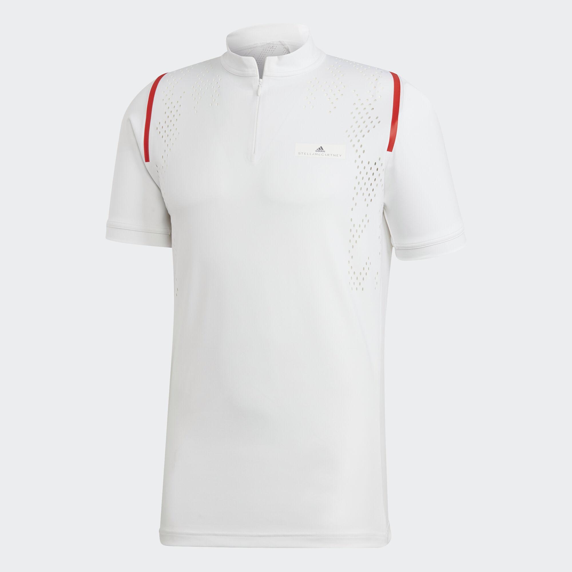 adidas tennis zip polo shirt