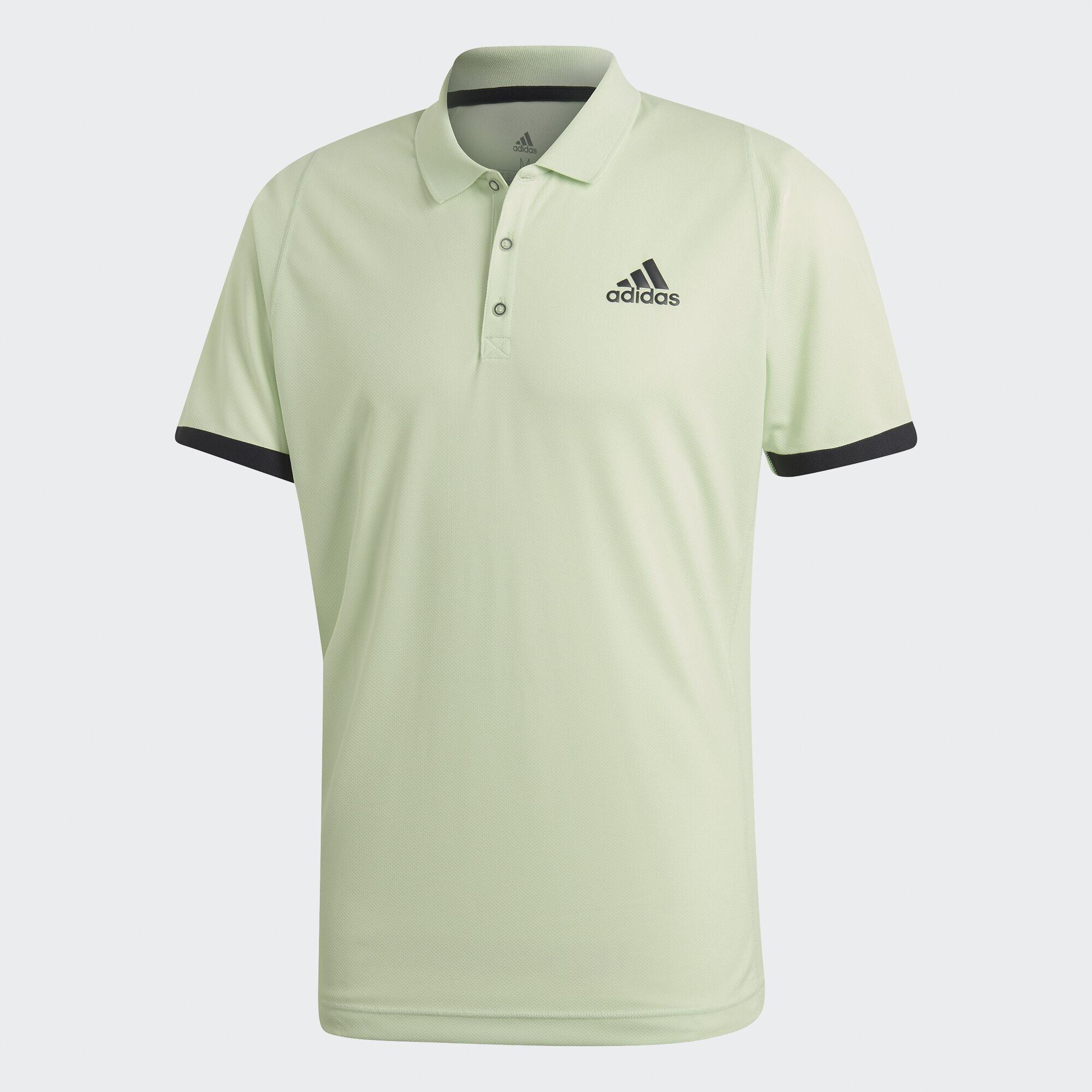 Adidas Mens New York Polo T Shirt Glow Green