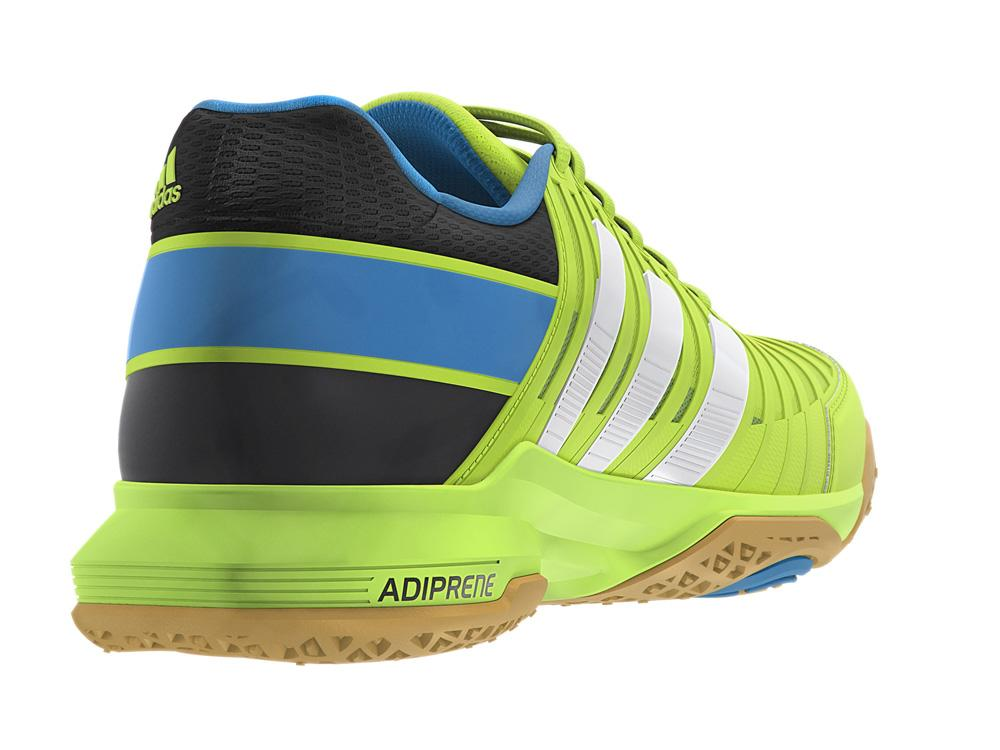 Adidas Mens adiPower Stabil 10.1 Indoor Court Shoes - Solar Slime