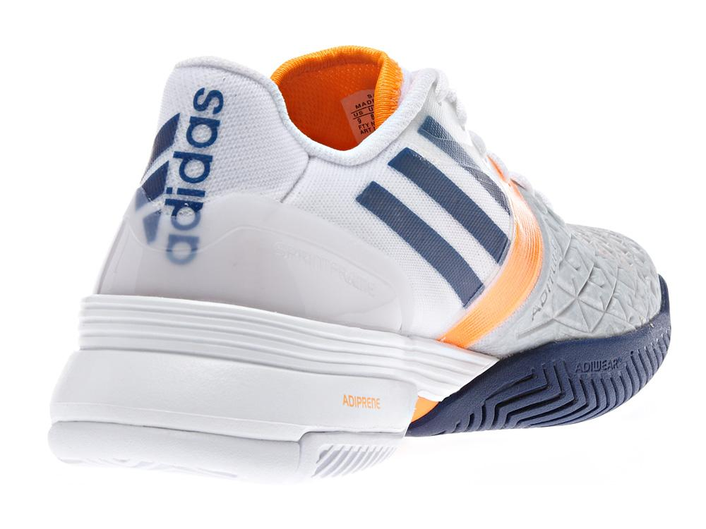 huge discount f6aa6 4644e Adidas Mens adiZero Feather III Tennis Shoes - GreyOrange