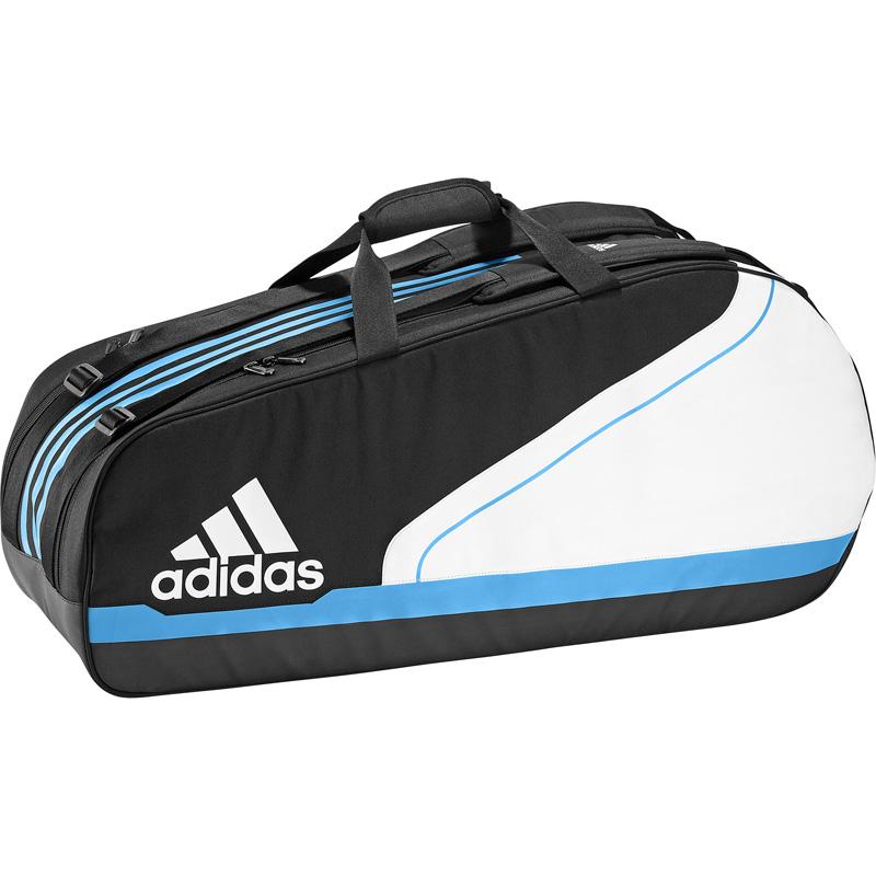 7f0f999905cf Adidas Medium Tennis Racket Bag - Black White - Tennisnuts.com
