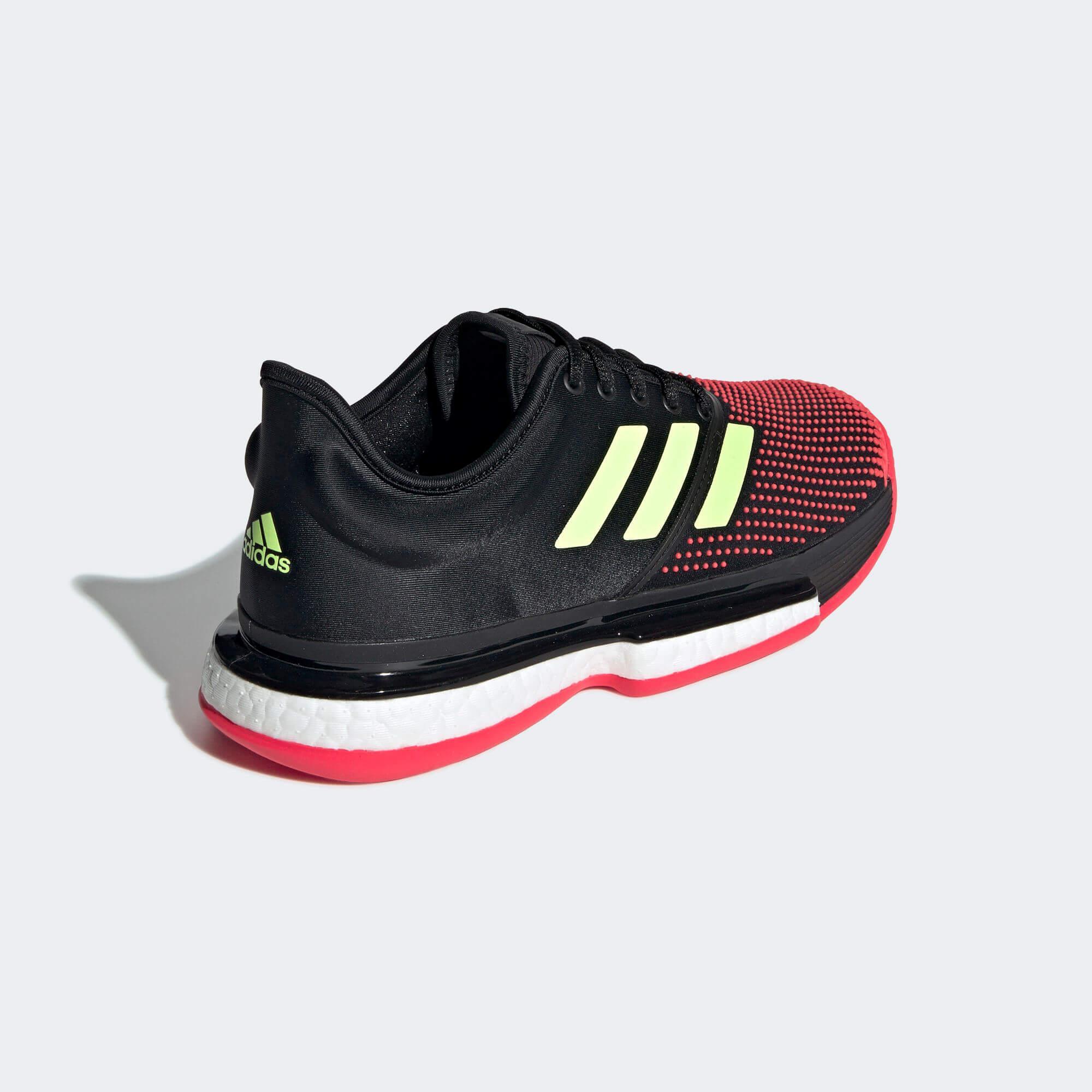 35620d9ba99c Adidas Womens SoleCourt Boost Tennis Shoes - Black Shock Red ...