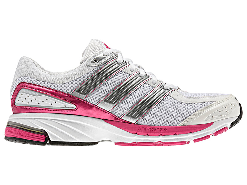 d8a54e7a95c Adidas Womens Response Cushion 21 Shoes - White Bright Pink Neo-Iron -  Tennisnuts.com