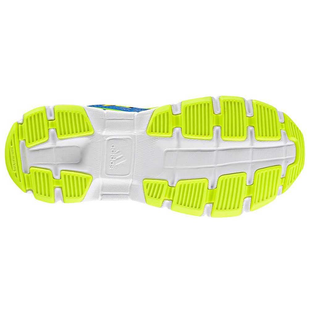 Adidas Kids AdiFast Running Shoes - Blue/Lime