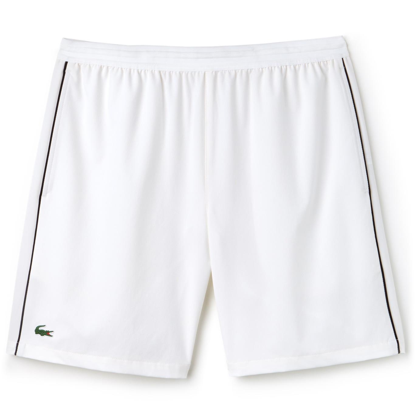 f1fe8e55 Lacoste Mens Djokovic Stretch Woven Shorts - White