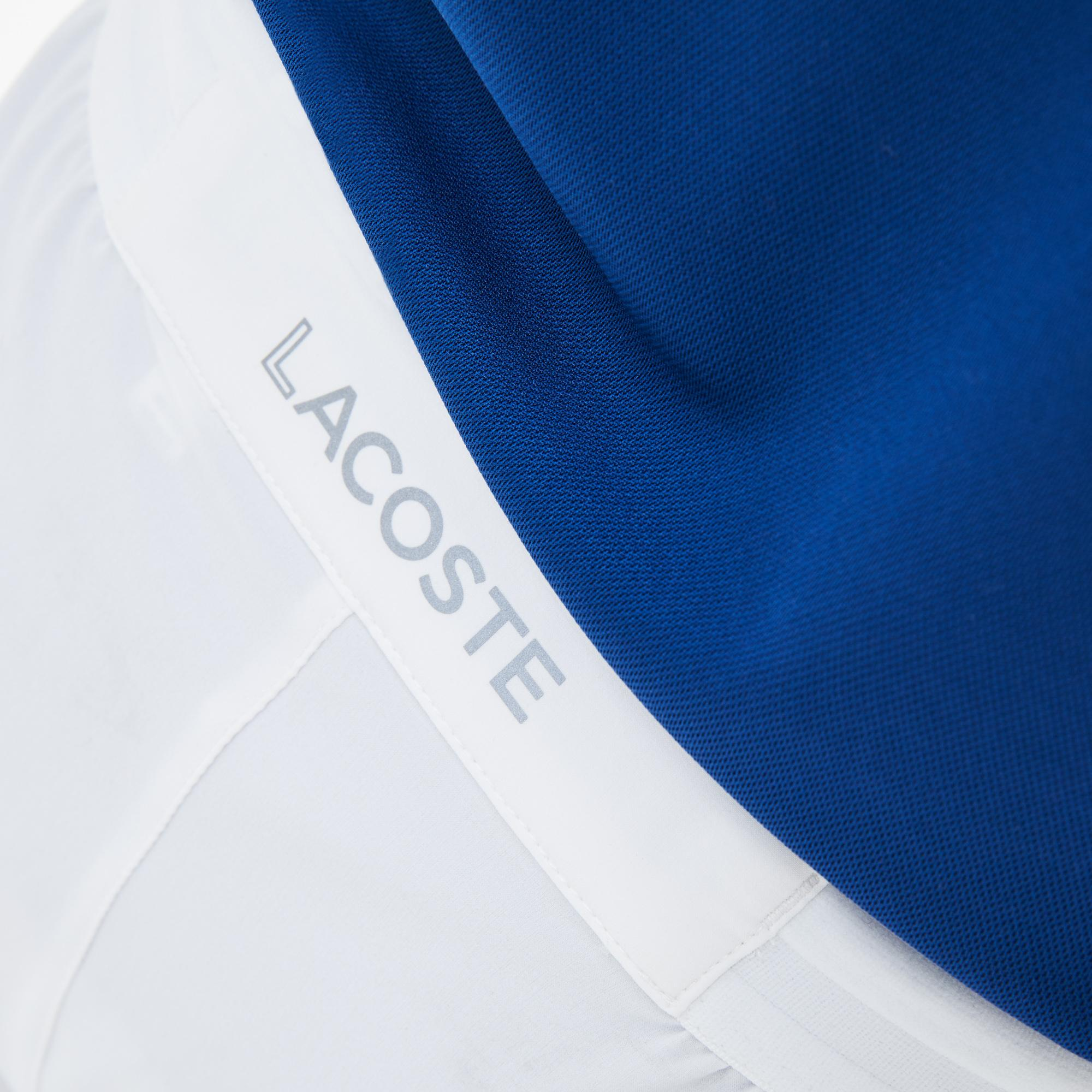 ae9331547 Lacoste Mens Djokovic Stretch Woven Shorts - White - Tennisnuts.com