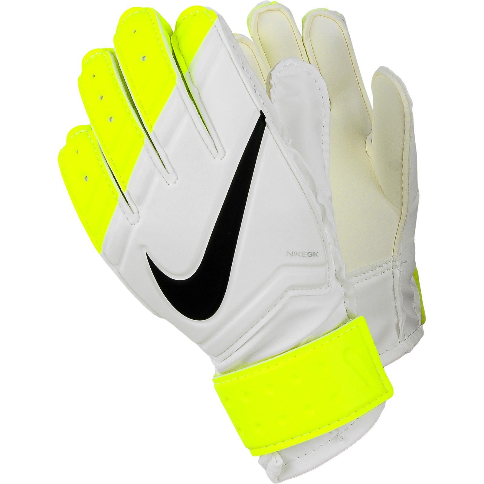 Nike Kids Goalkeeper Gloves - White/Volt - Tennisnuts.com