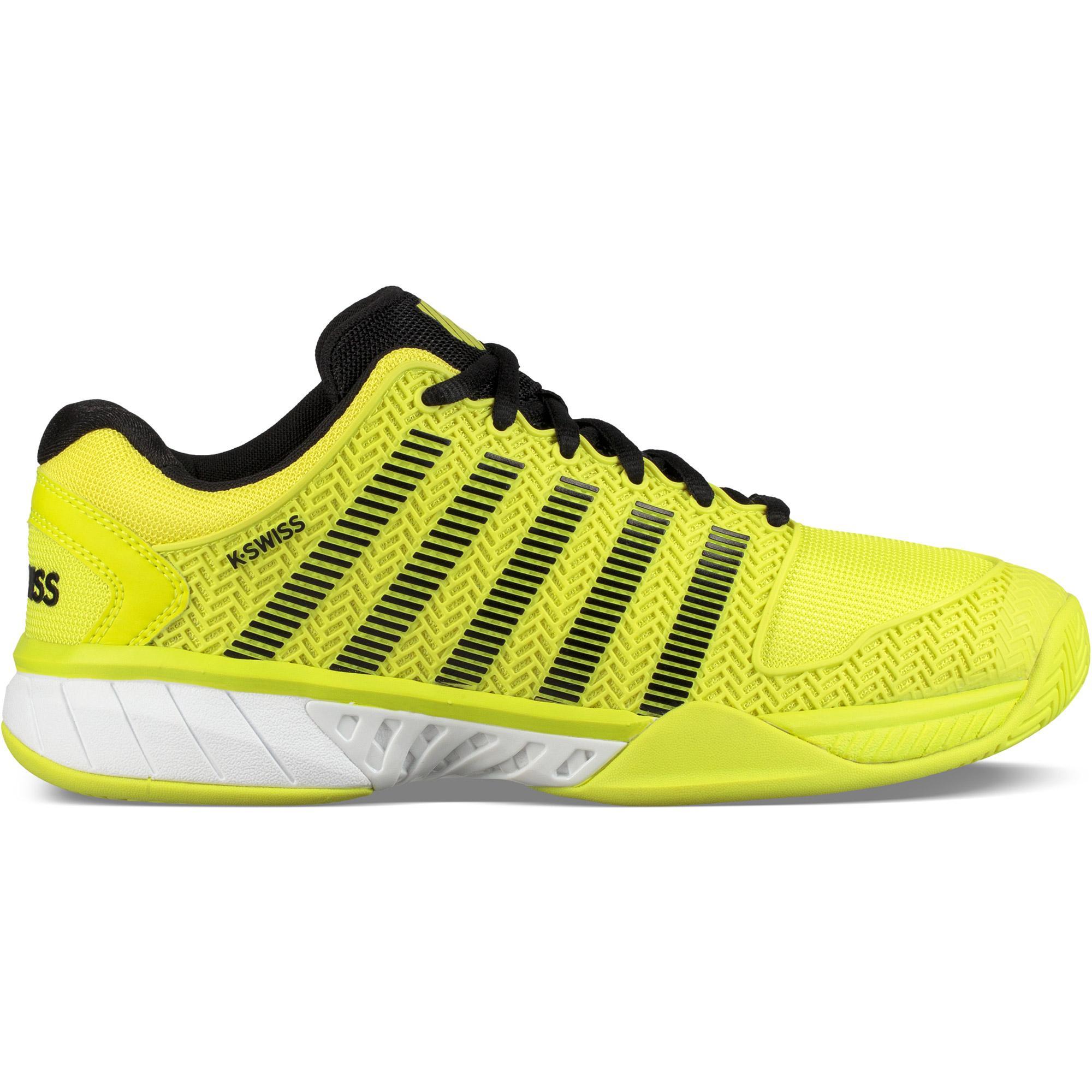 newest 9c9f4 815bc K-Swiss Mens Hypercourt Express HB Tennis Shoes - Neon Yellow Black -  Tennisnuts.com