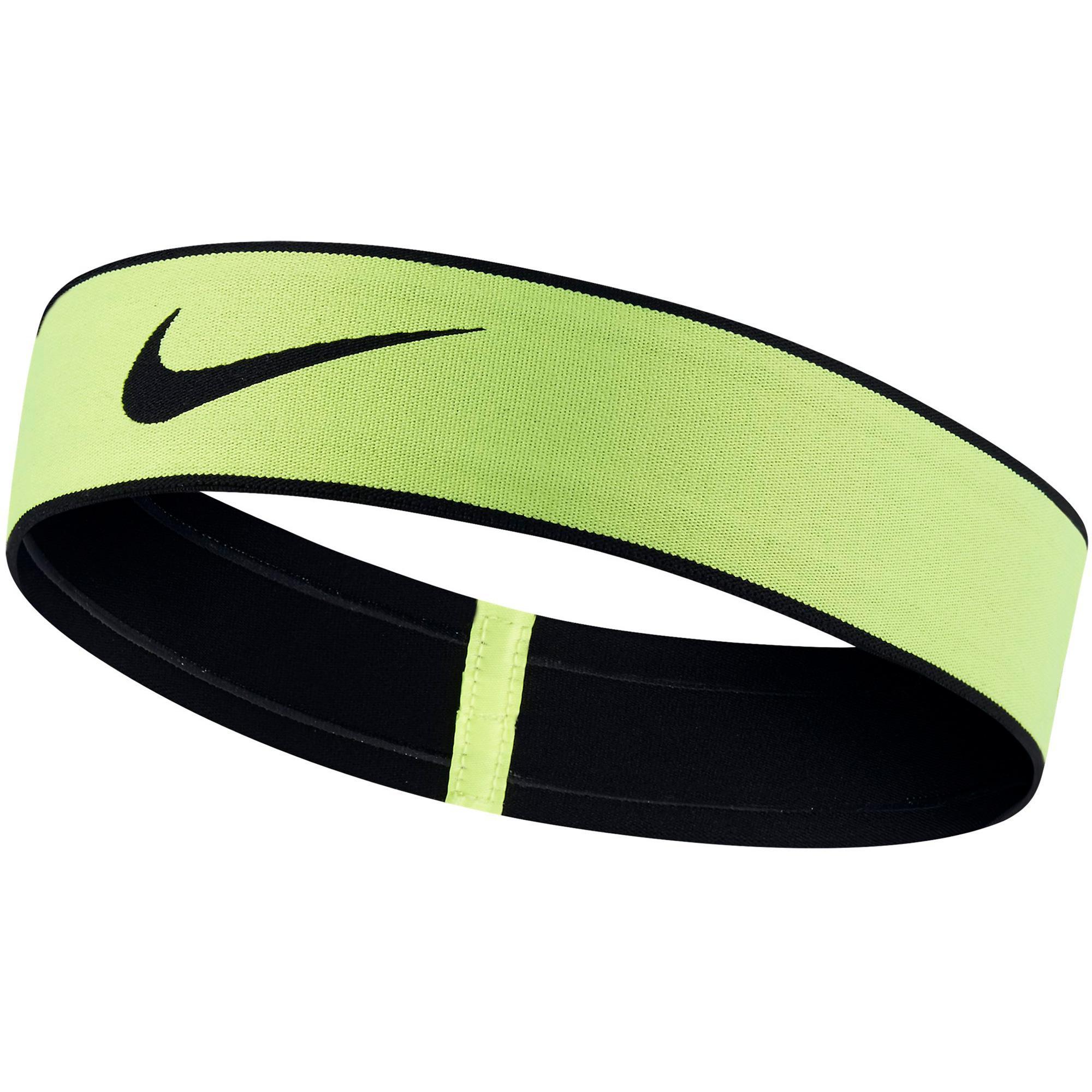 Nike Pro Swoosh Headband 2.0 - Volt Black - Tennisnuts.com f9f9dda0804