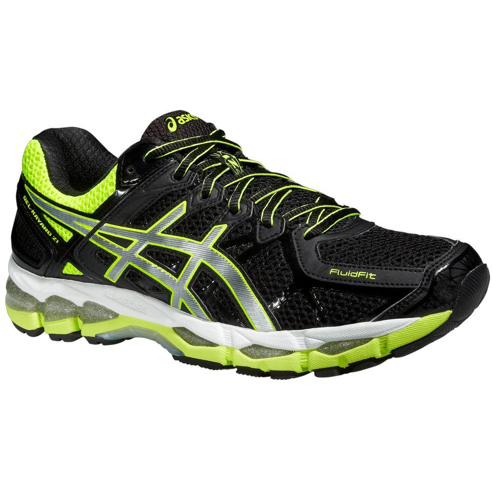 asics mens gel kayano 21 running shoes black yellow. Black Bedroom Furniture Sets. Home Design Ideas