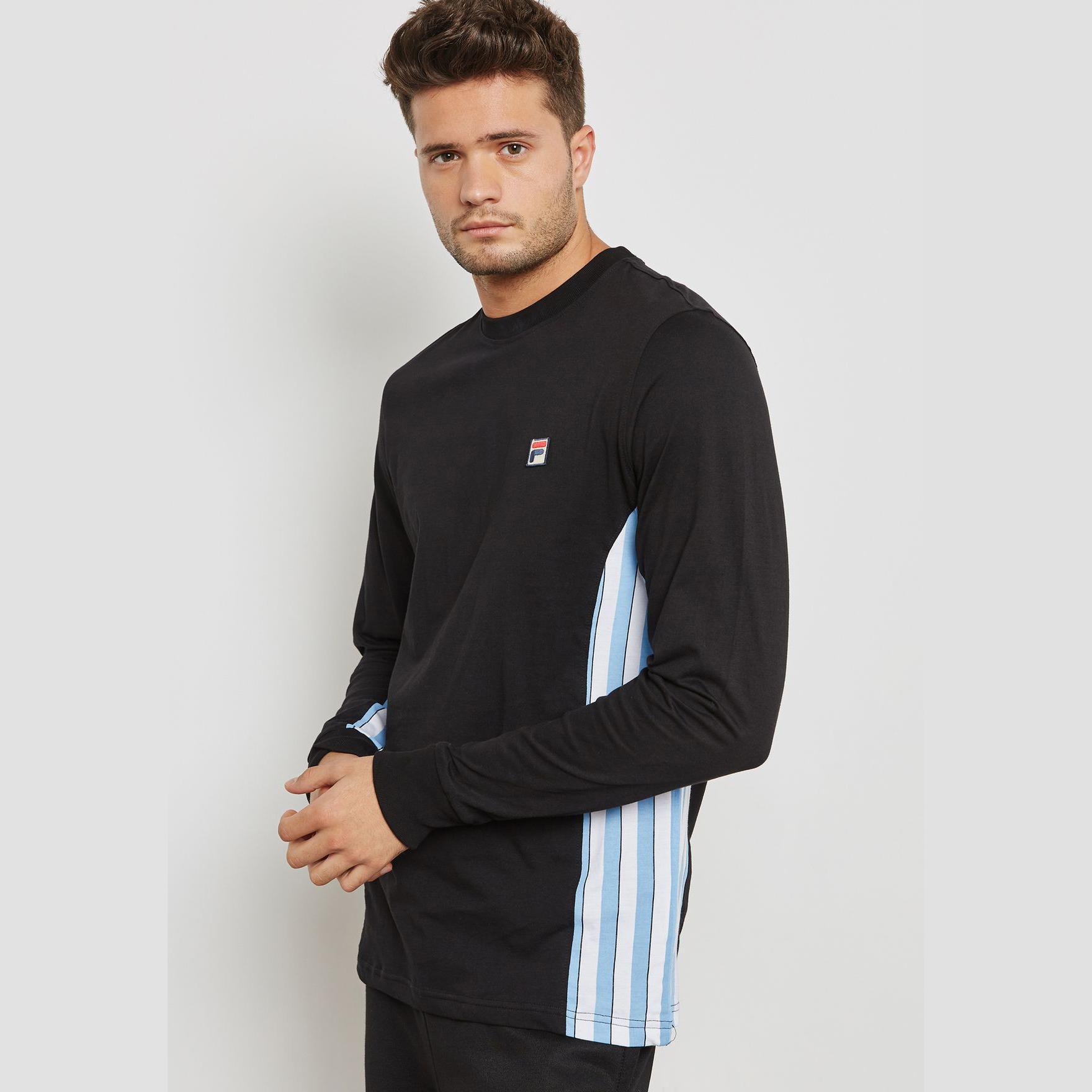 Fila Men/'s Settanta Longsleeved T-Shirt Blue