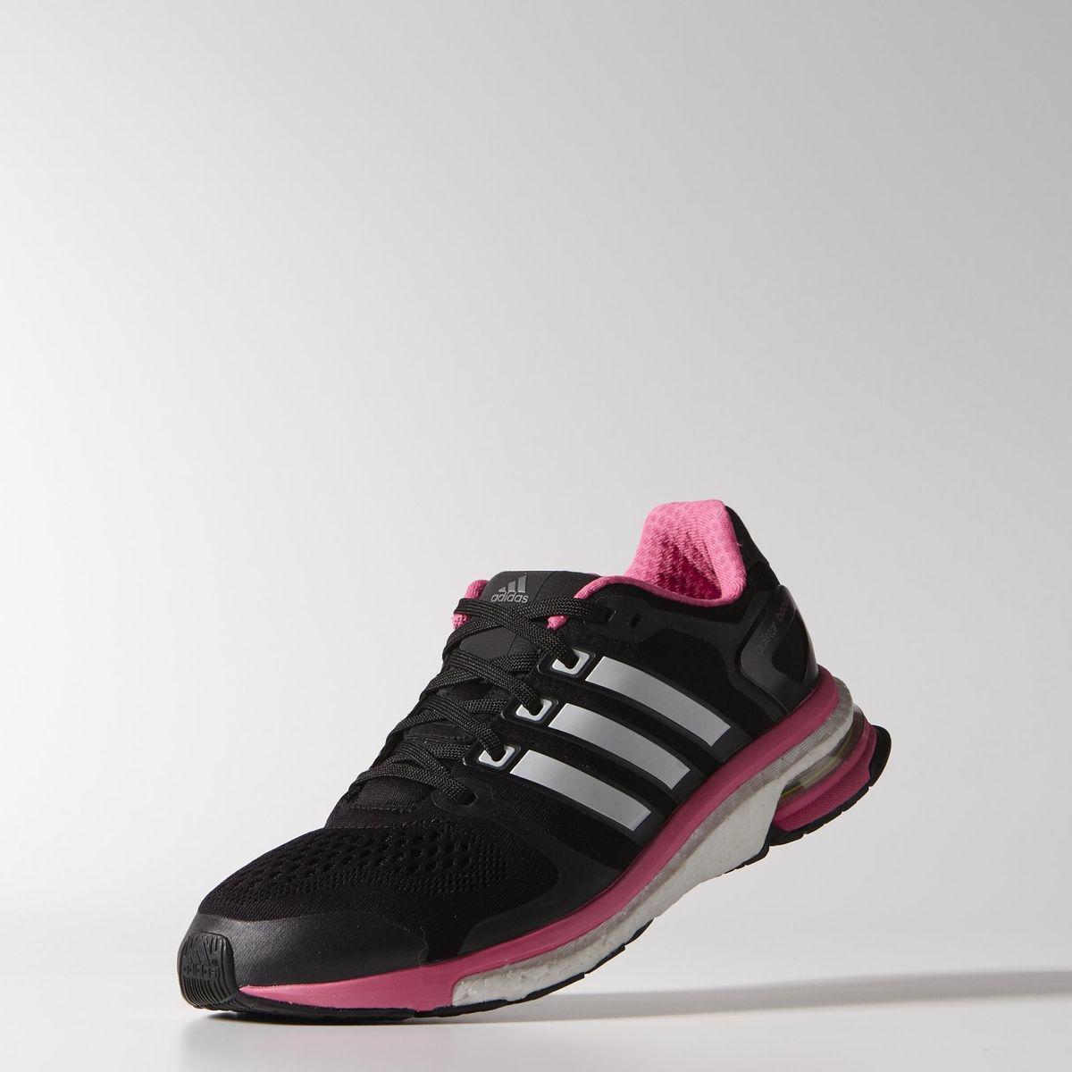 buy online fe39a 43c72 Adidas Womens Adistar Boost ESM Running Shoes - BlackWhitePink