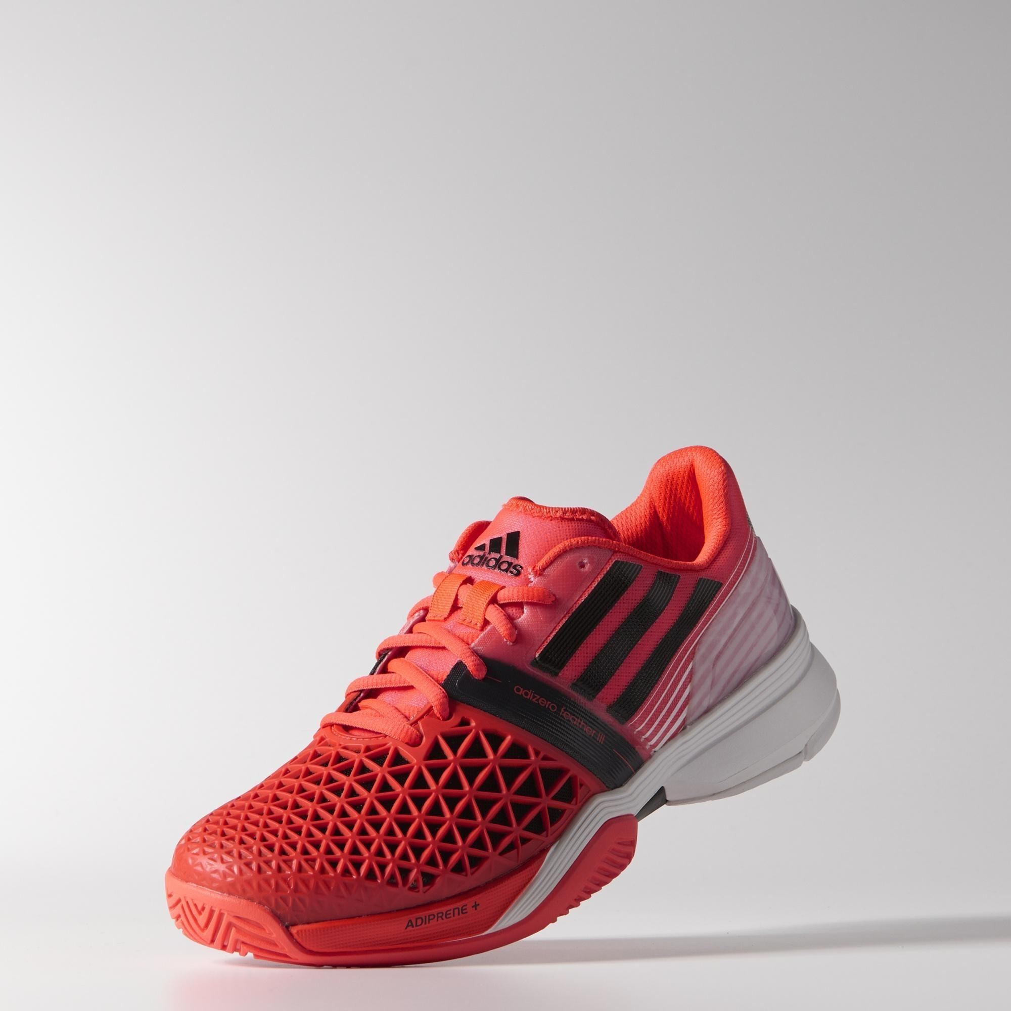 best service 9dd28 d91c6 Adidas Mens CC Adizero Feather III Tennis Shoes - Solar Red