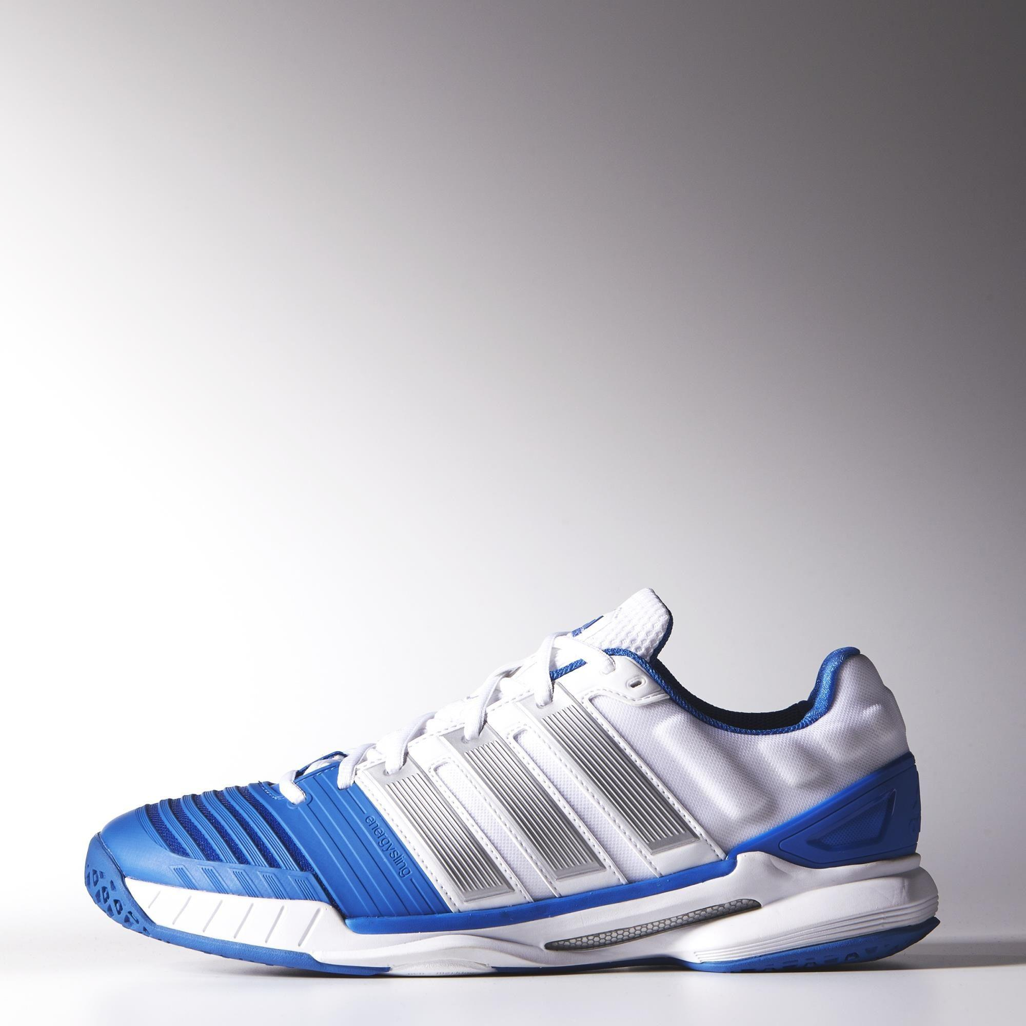 Adidas Mens adiPower Stabil 11 Indoor Shoes - White/Blue