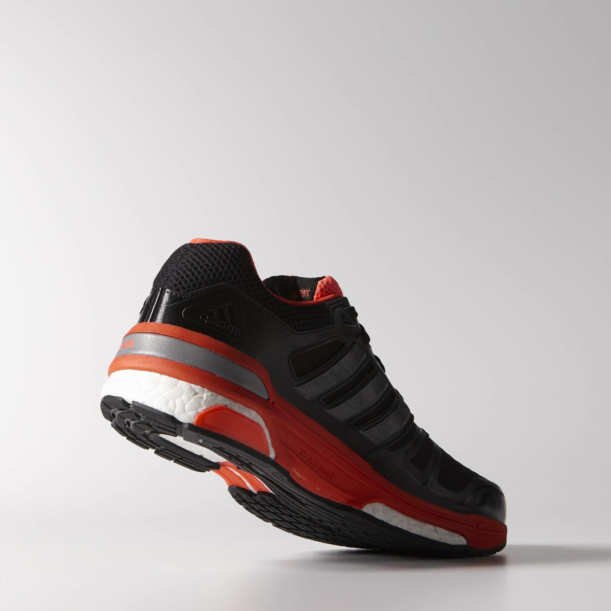 30c61a0cb Adidas Mens Supernova Sequence Boost 7 Running Shoes - Black Infrared