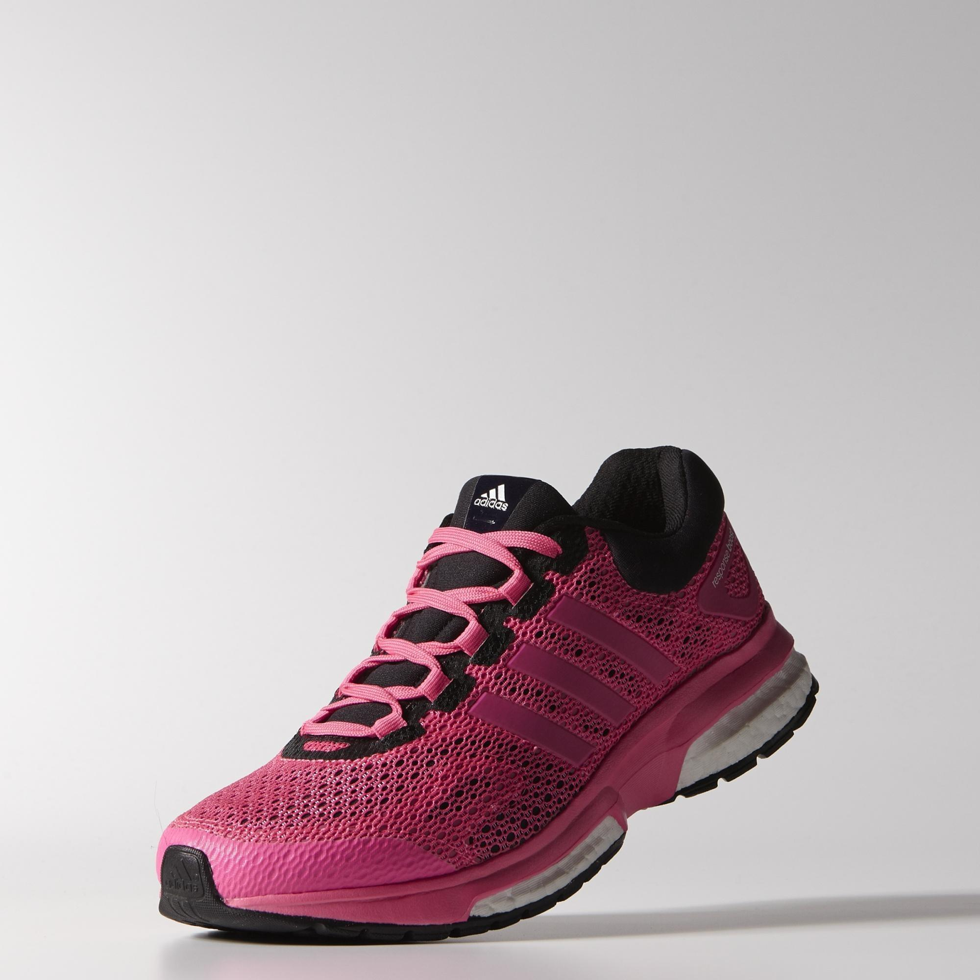 Adidas Womens Response Boost Techfit Running Shoes - Solar