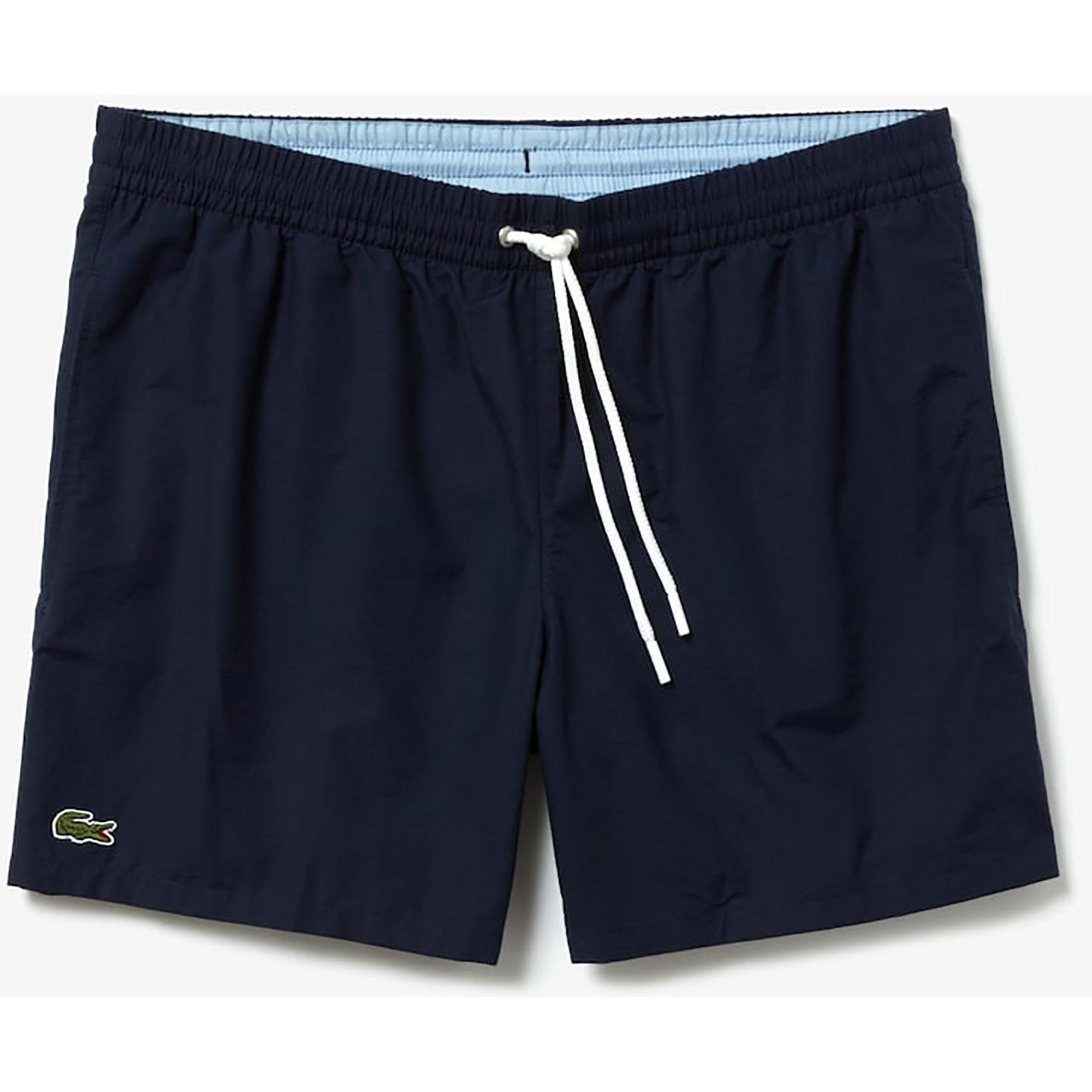 0f3b1eebd4 Lacoste Mens Taffeta Trunks - Navy Blue/Light Blue - Tennisnuts.com