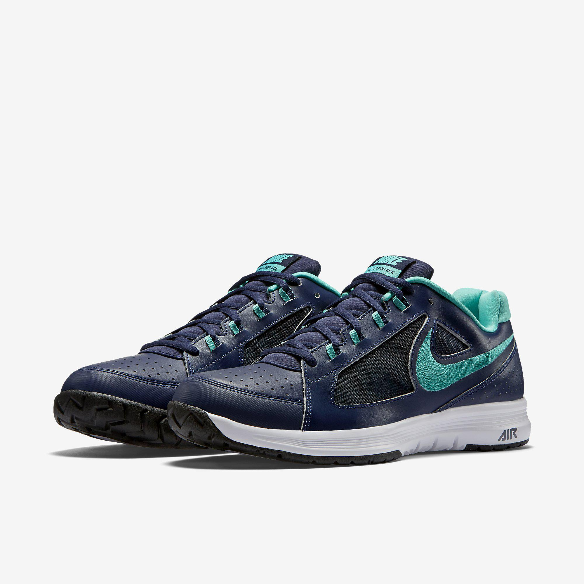 Out Of Stock. Nike Mens Air Vapor Ace Tennis Shoes - Midnight Navy/Light  Retro ...