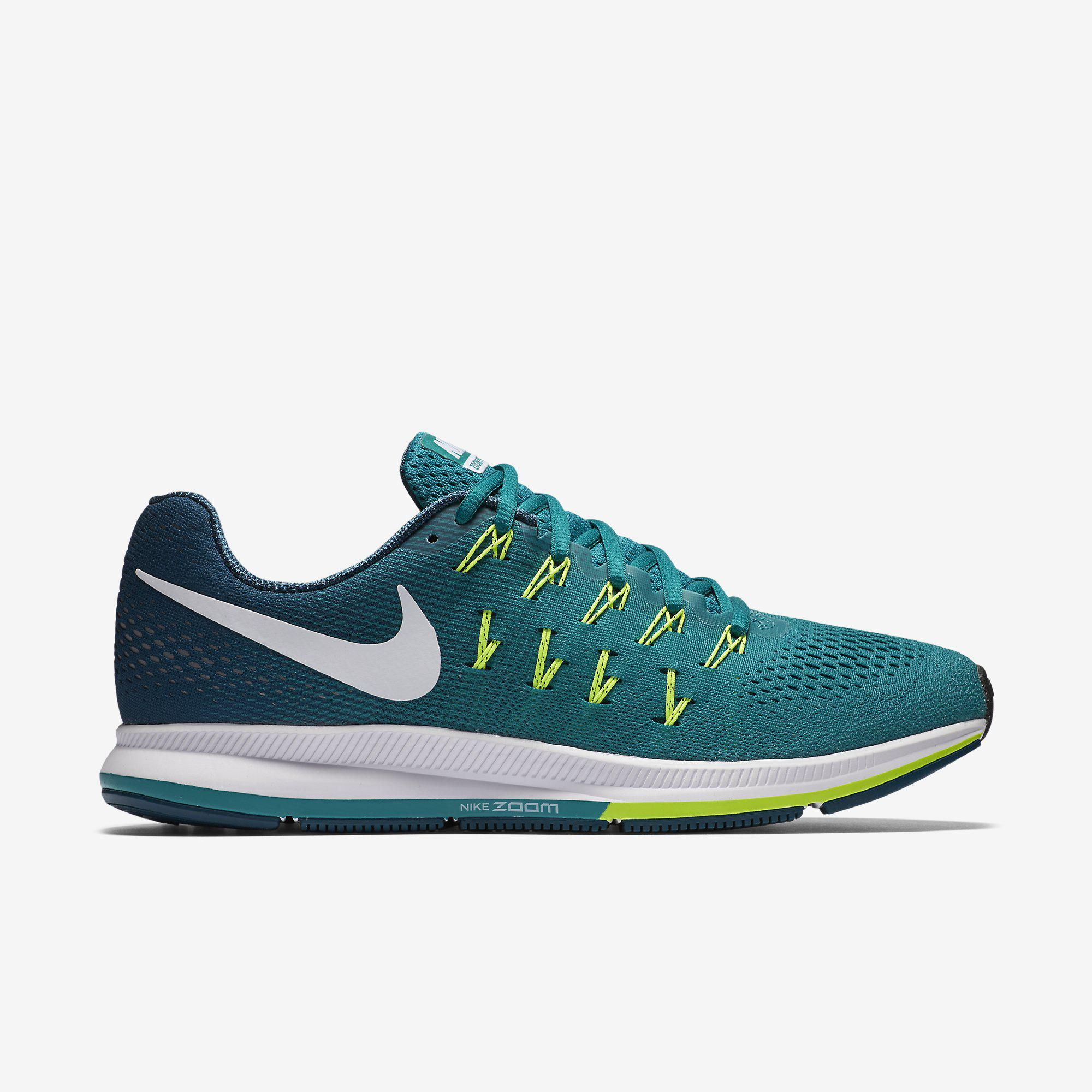 new style 2751a abddc Nike Mens Air Zoom Pegasus 33 Running Shoes - Rio TealMidnight Turquoise -  Tennisnuts.com