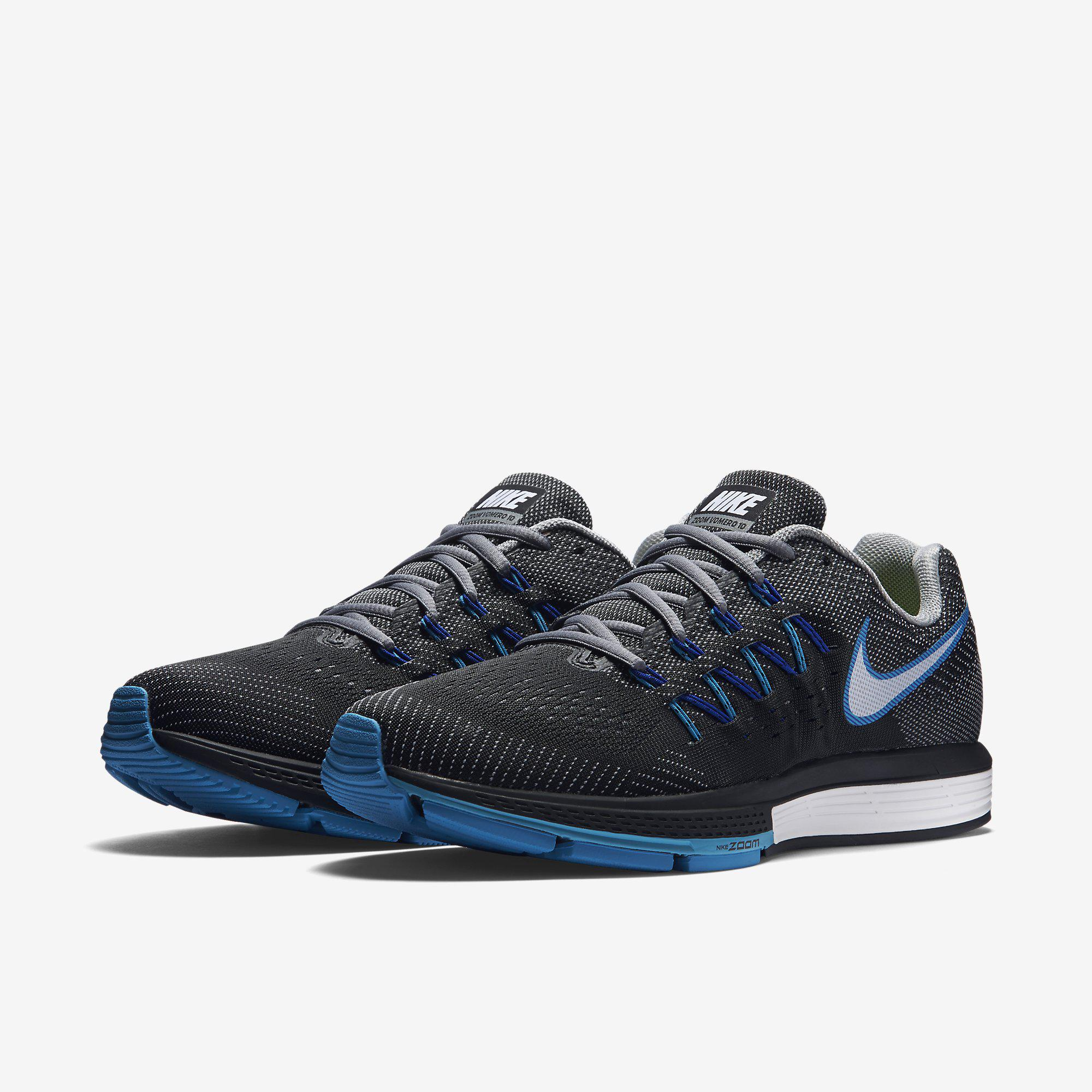 sale retailer 5006e 80a91 Nike Mens Air Zoom Vomero 10 Running Shoes - Cool Grey Black