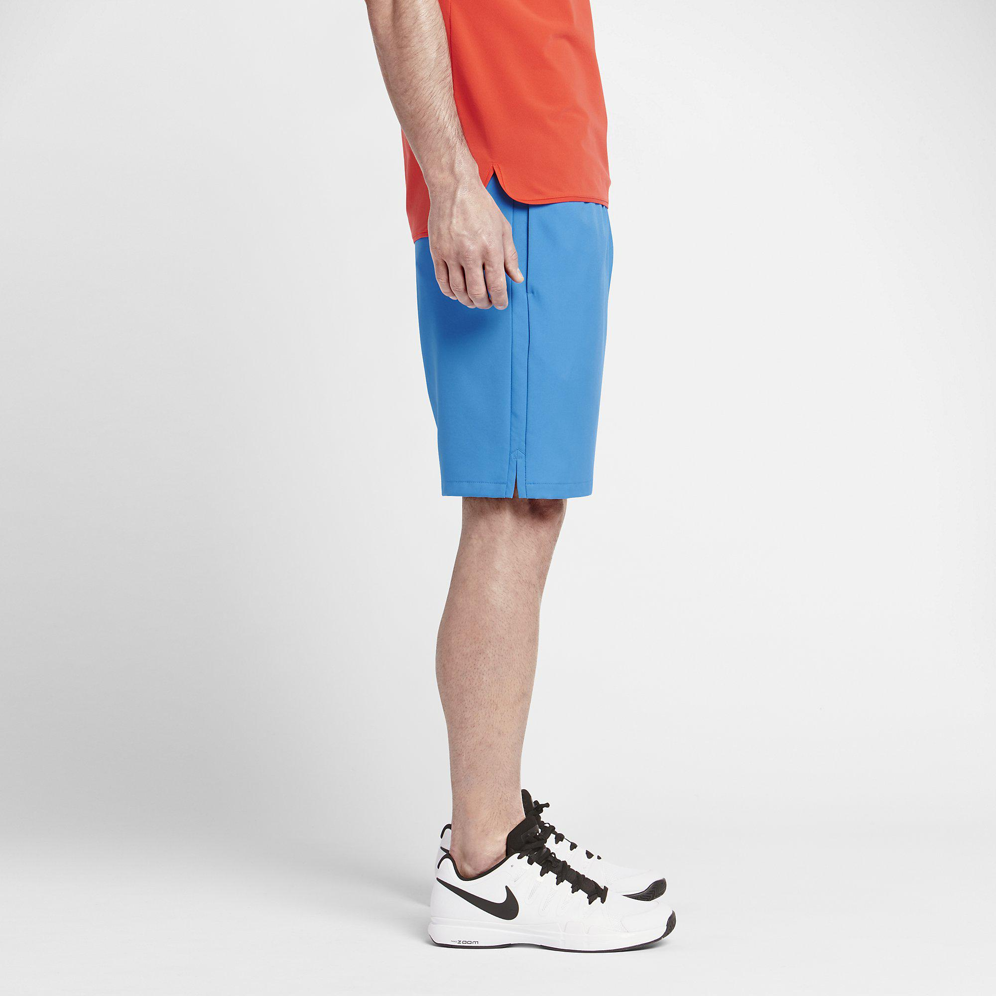 Out Of Stock. Nike Mens Court Graphic 9 Inch Tennis Shorts - Light Photo  Blue ...