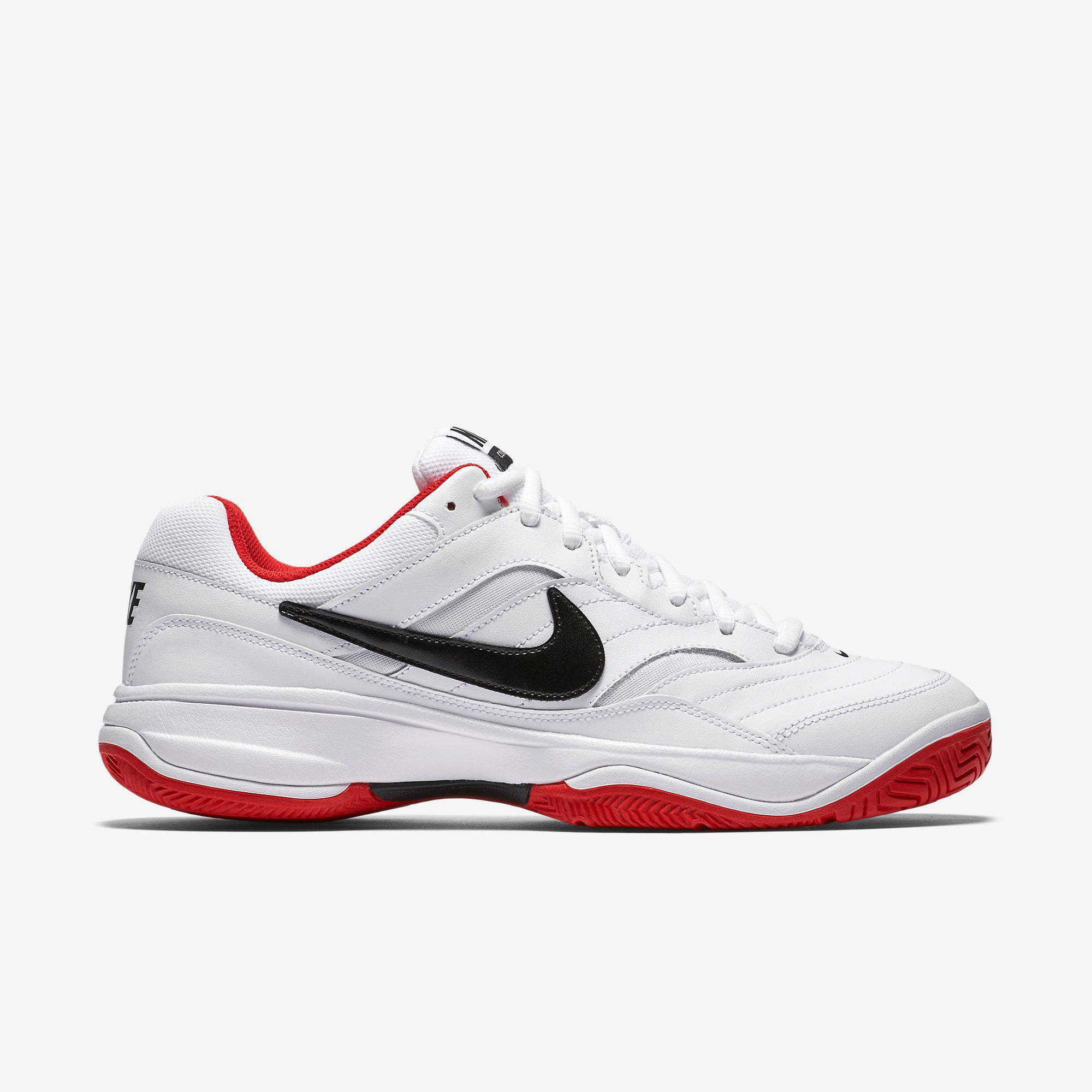 nike mens court lite tennis shoes white black uni red. Black Bedroom Furniture Sets. Home Design Ideas