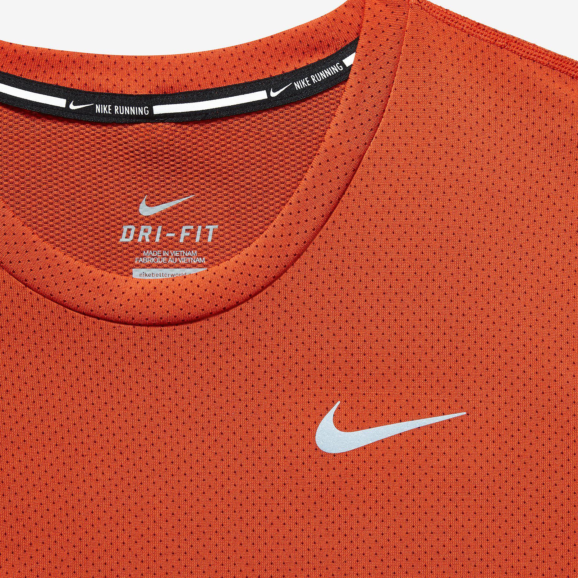 30a40ff76a Nike Mens Dri-FIT Contour Top - Team Orange/Cinnabar