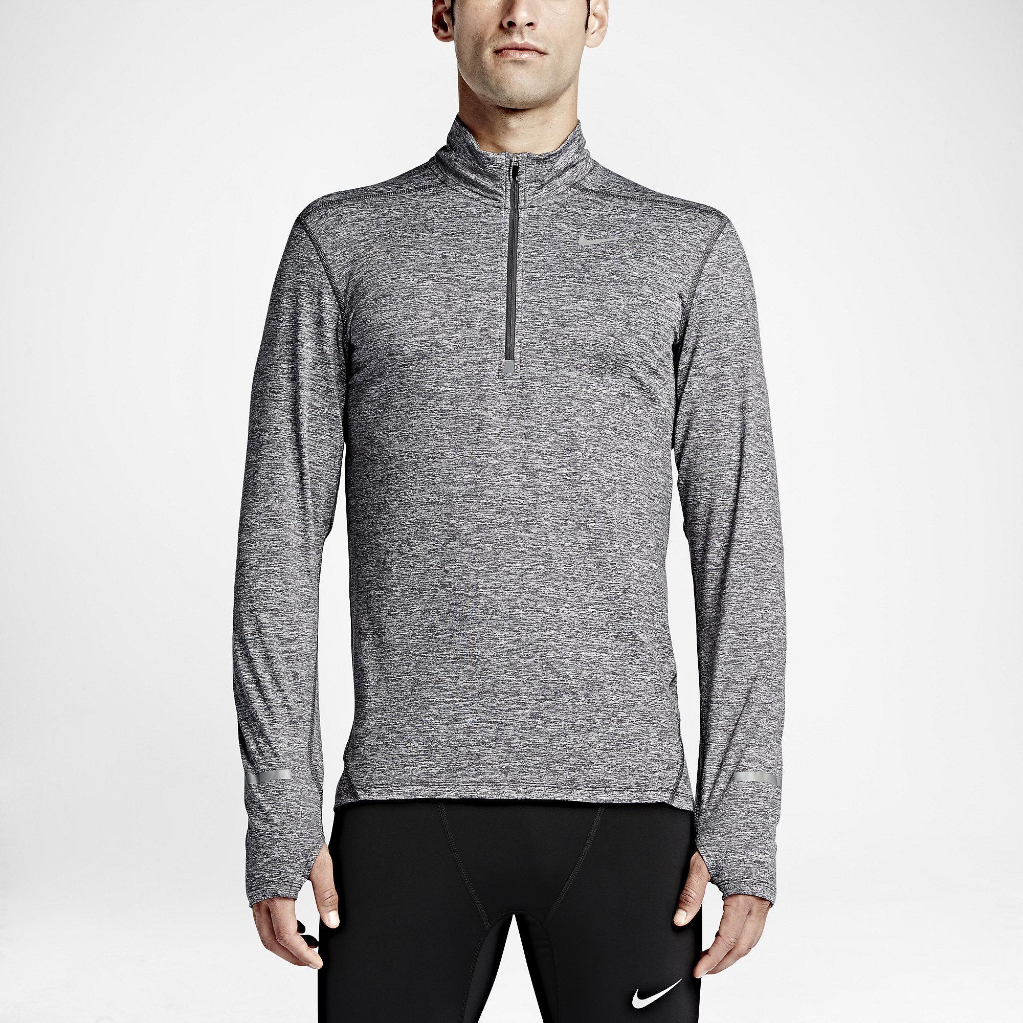 e6c6b8945e65 Nike Mens Dri-FIT Element Half-Zip Top - Dark Grey - Tennisnuts.com