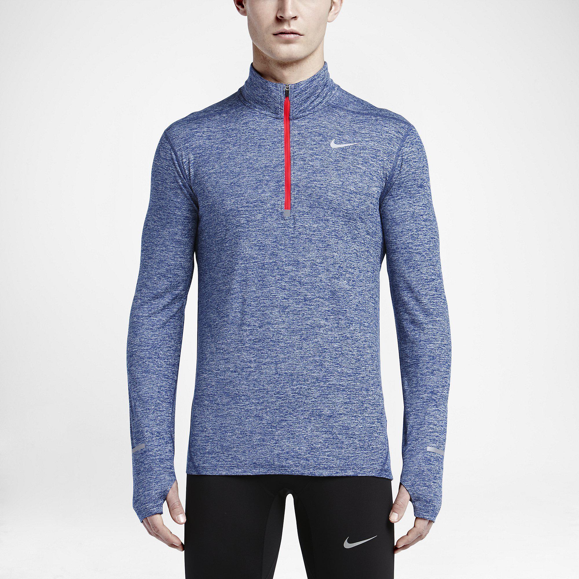 Out Of Stock. Nike Mens Dri-FIT Element Half-Zip Top - Deep Royal Blue ...