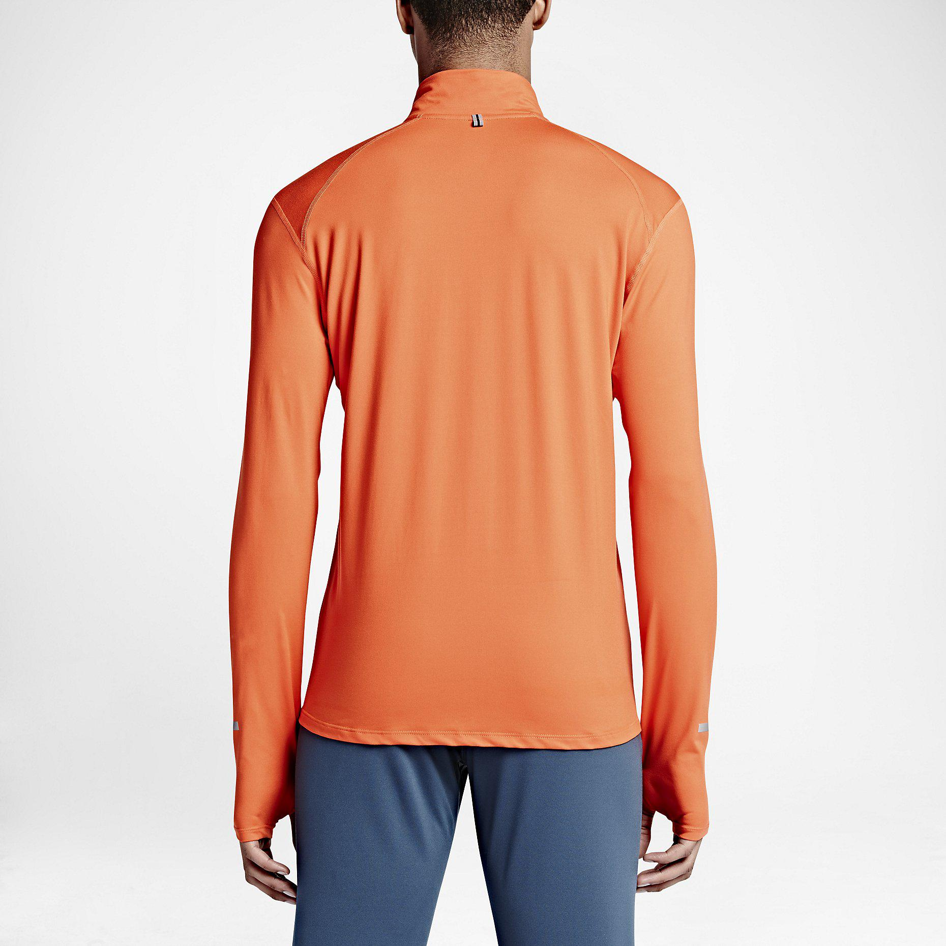 3a23f47c7 Nike Mens Dri-FIT Element Half-Zip Top - Team Orange - Tennisnuts.com