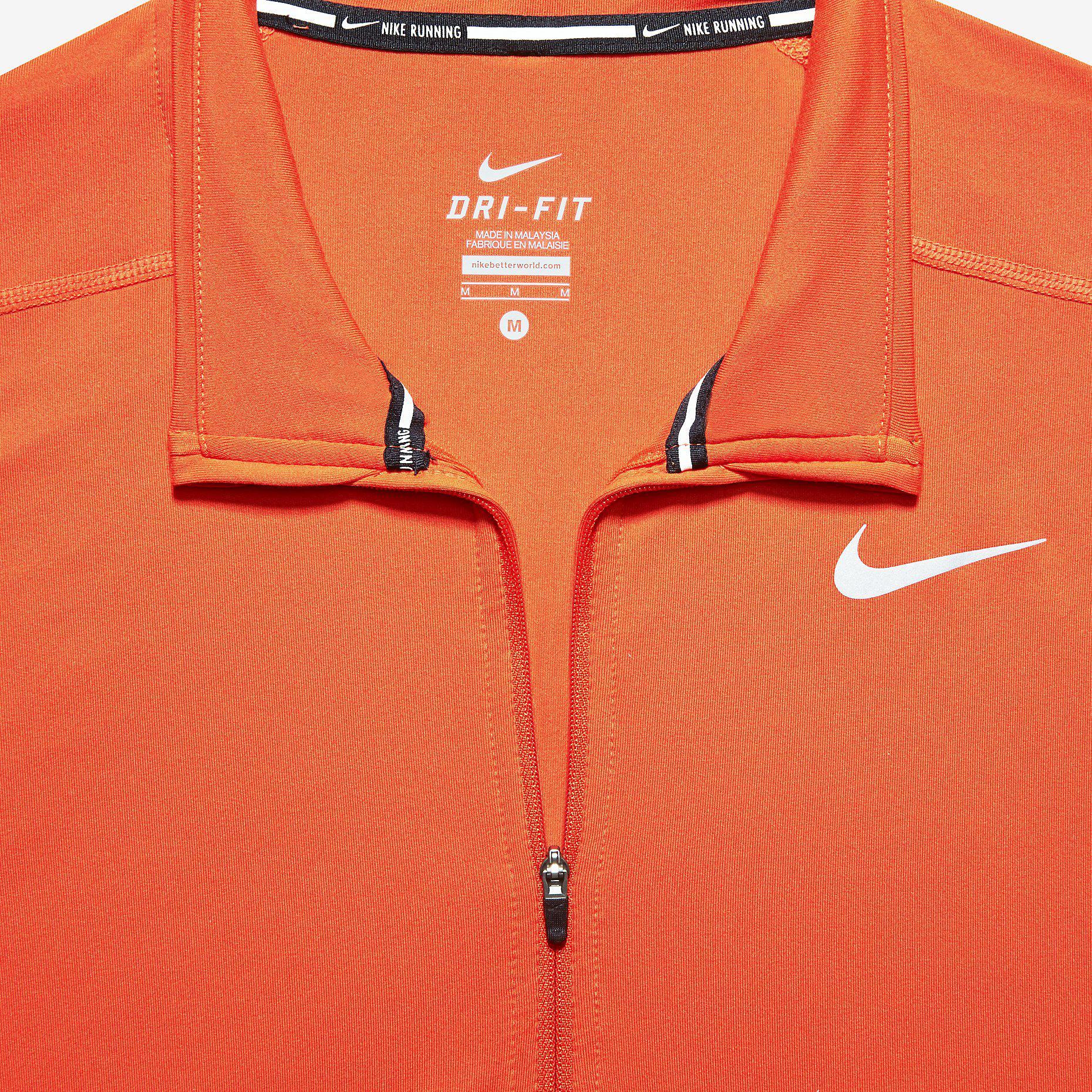 0bea4b0d55c2c Nike Mens Dri-FIT Element Half-Zip Top - Team Orange