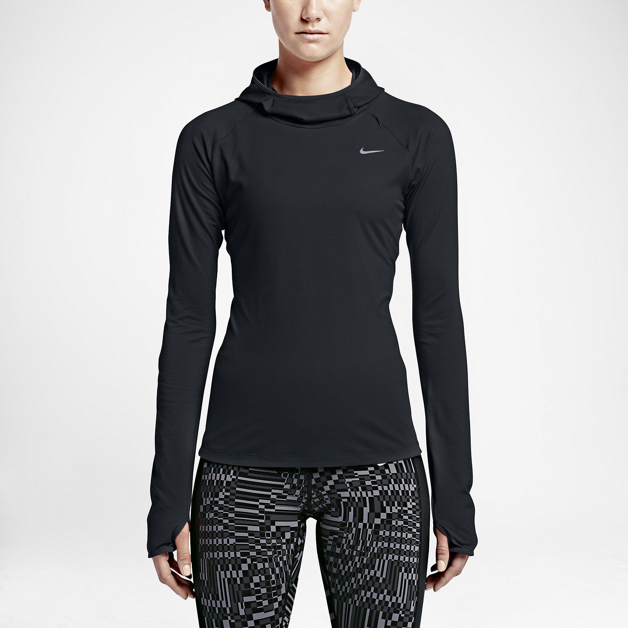 Nike Womens Dry Element Hoodie - Black - Tennisnuts.com