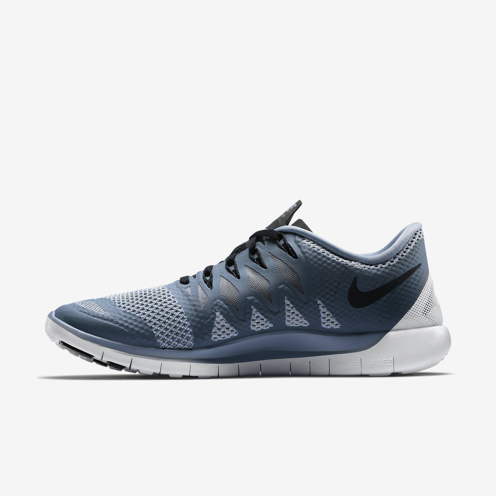 Nike Mens Free 5.0+ Running Shoes - Cool Blue/Wolf Grey ...