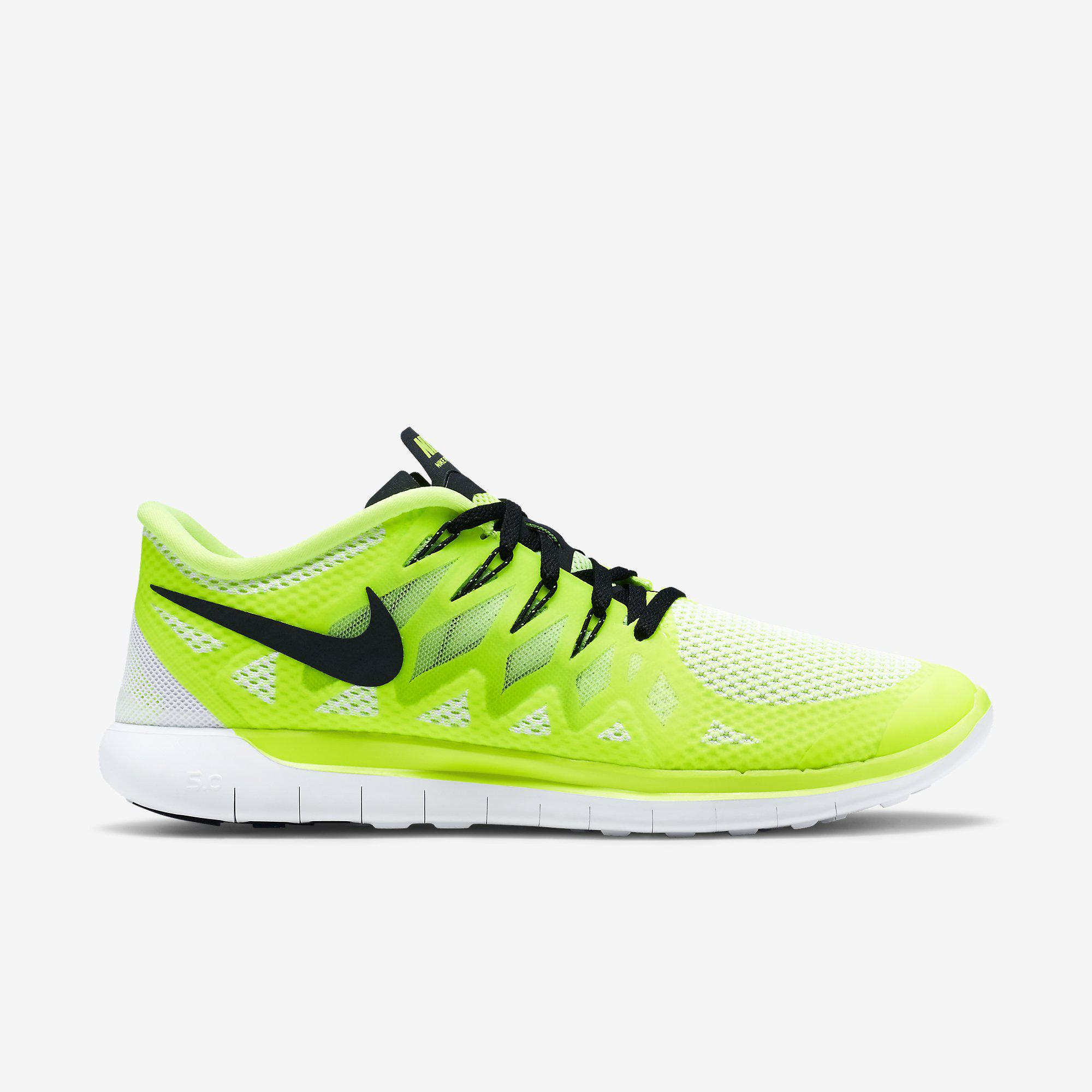 Nike Mens Free 5.0+ Running Shoes - Volt