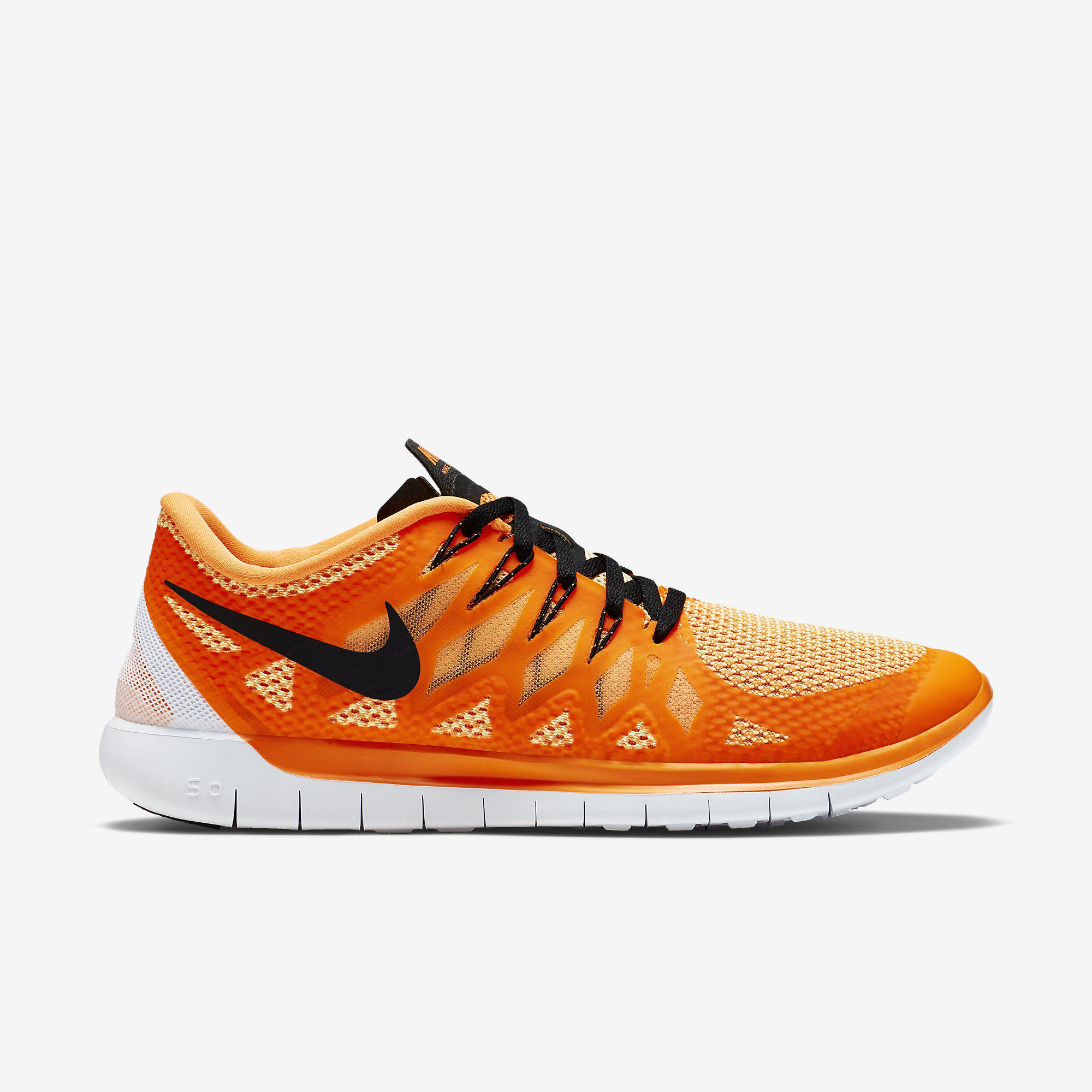 best loved daa8f 3a3fd Nike Mens Free 5.0+ Running Shoes - Orange/Black