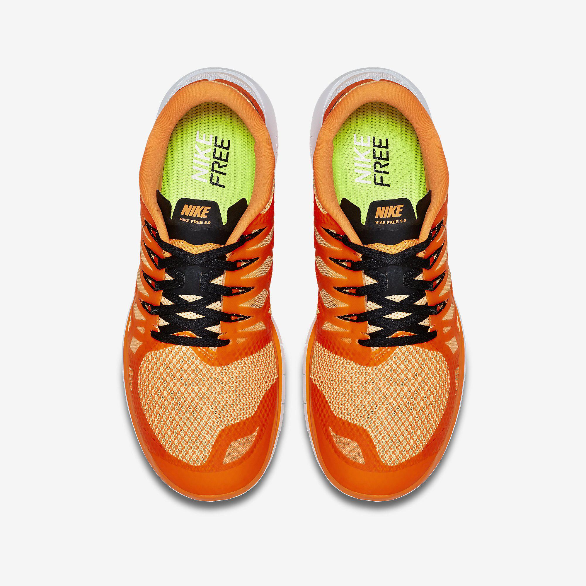 buy popular 177b6 70dd9 Nike Mens Free 5.0+ Running Shoes - Orange/Black - Tennisnuts.com