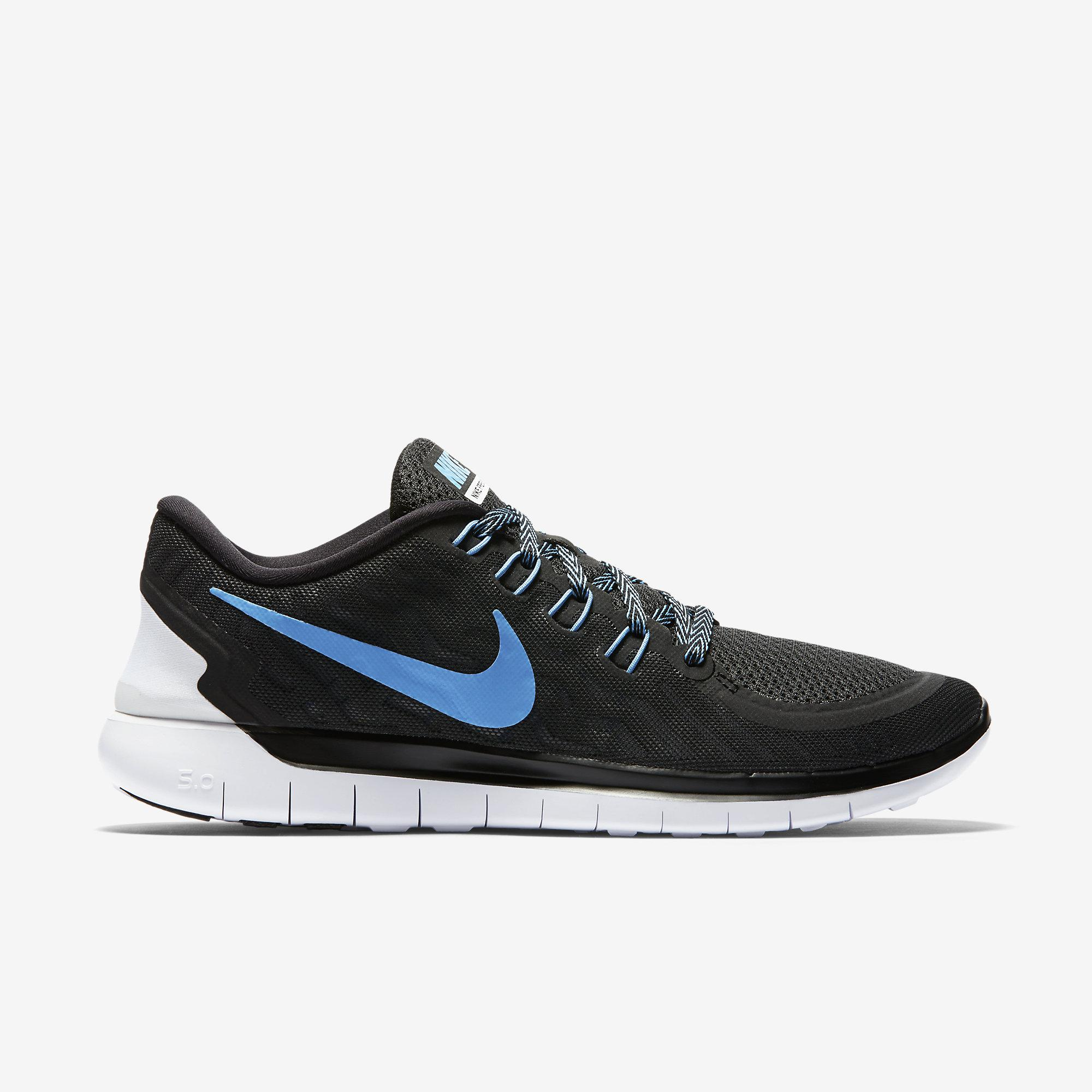 Nike Mens Free 5.0 Running Shoes - Black University Blue White -  Tennisnuts.com a6e07b0ca4b9