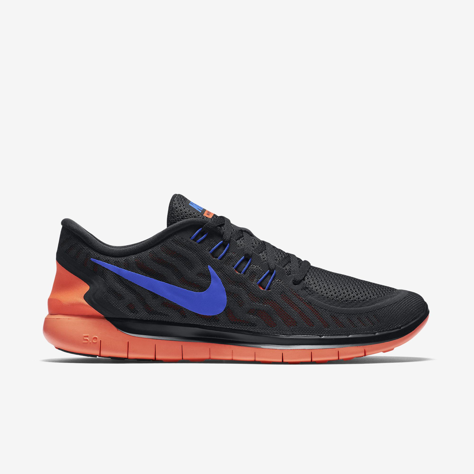 a404a324e5ad Nike Mens Free 5.0 Running Shoes - Black Blue Crimson - Tennisnuts.com
