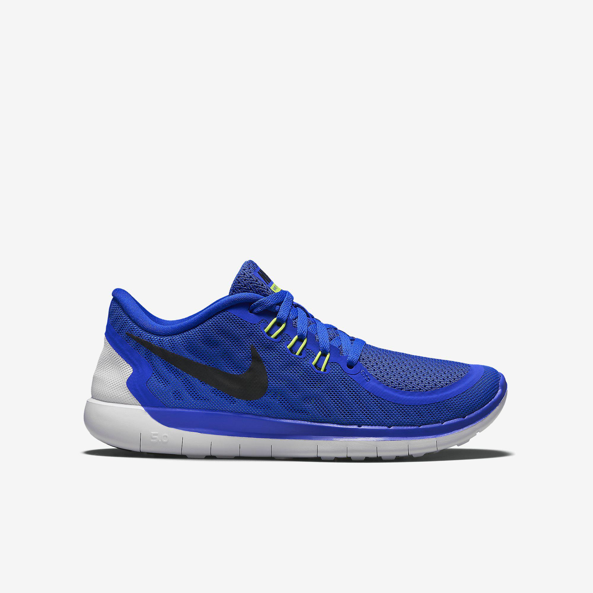 nike boys free 5 0 running shoes game royal. Black Bedroom Furniture Sets. Home Design Ideas