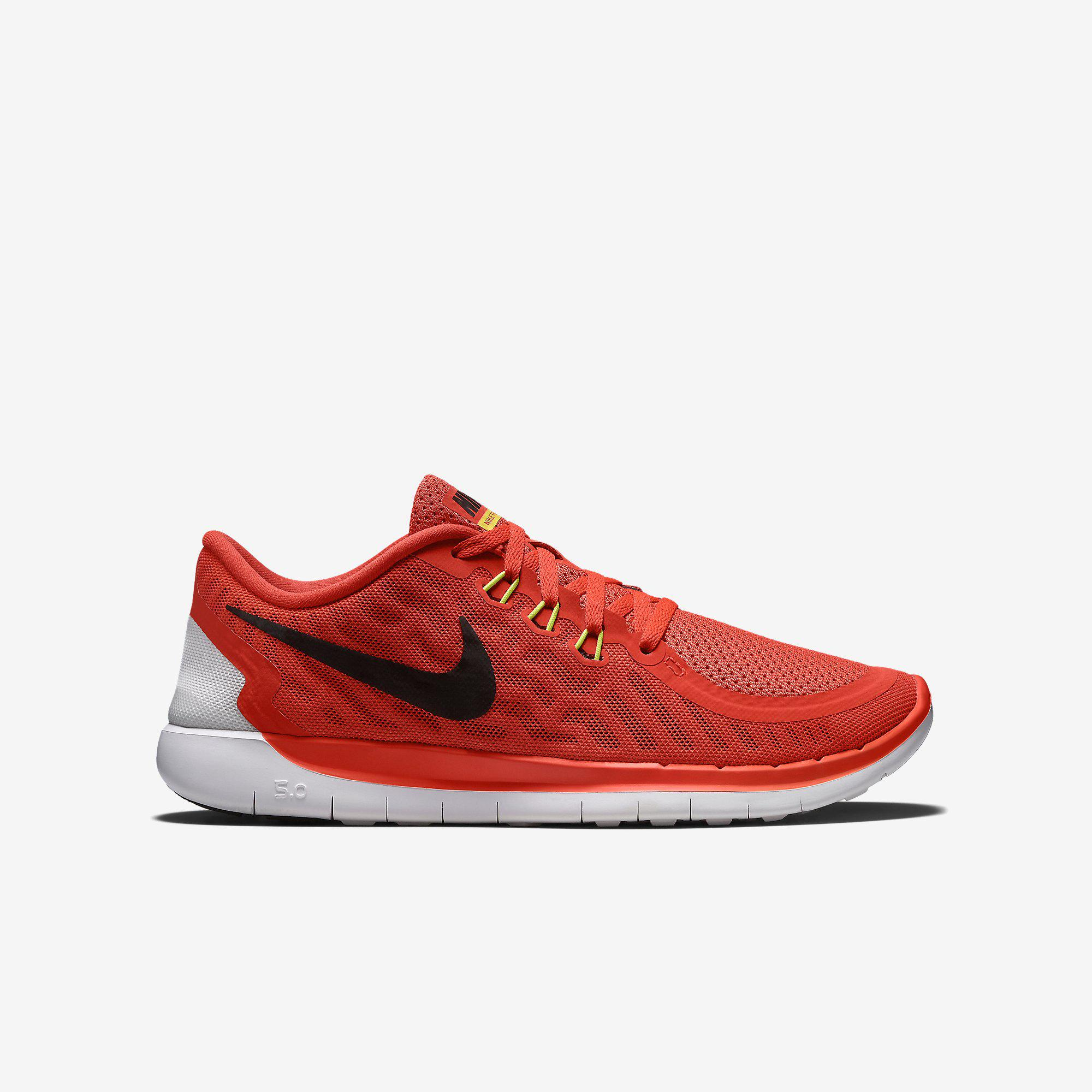 low priced 4a7ea bd047 Nike Boys Free 5.0+ Running Shoes - Bright Crimson/Total Orange