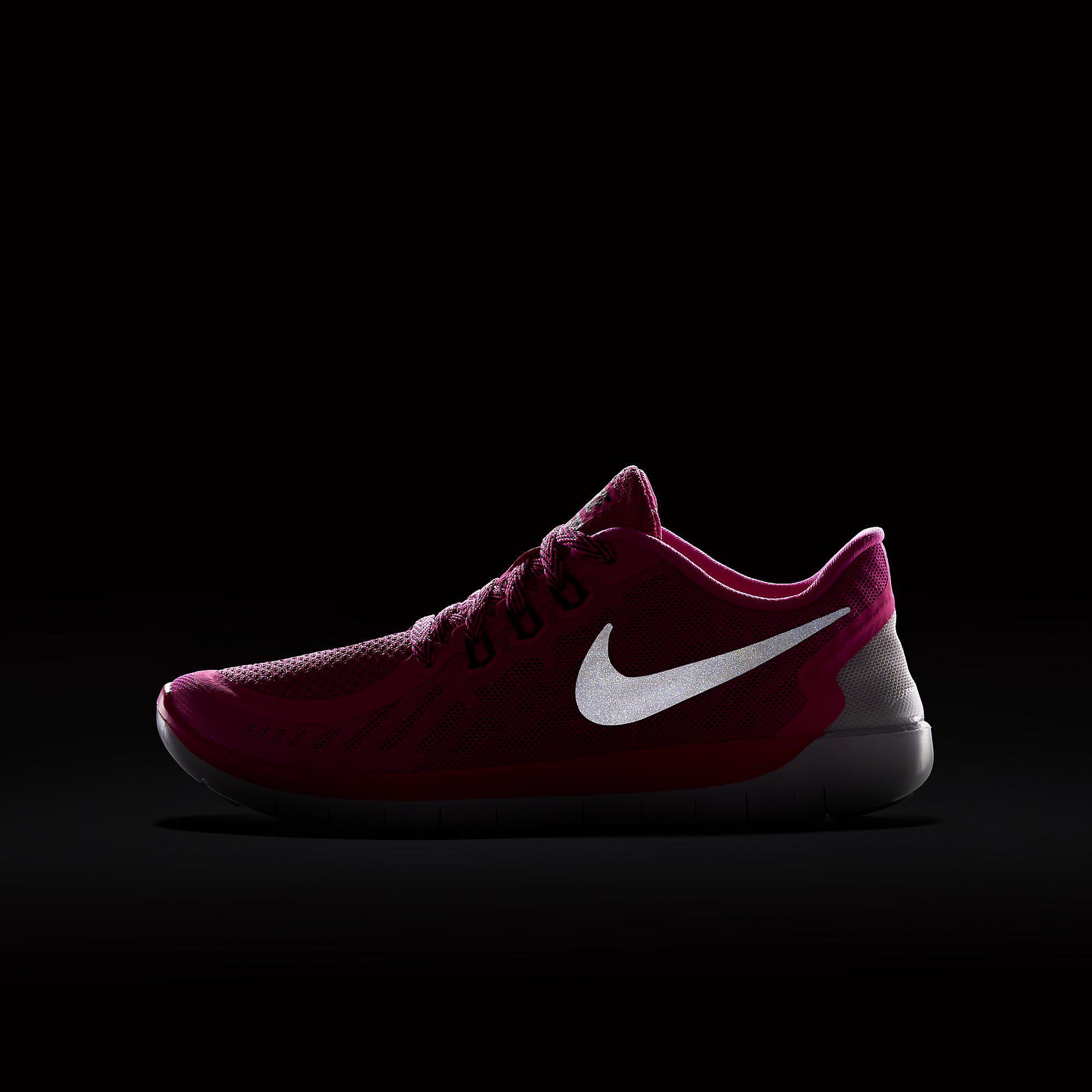 1f95aa199870 Nike Girls Free 5.0 Running Shoes - Pink Pow Vivid Pink - Tennisnuts.com