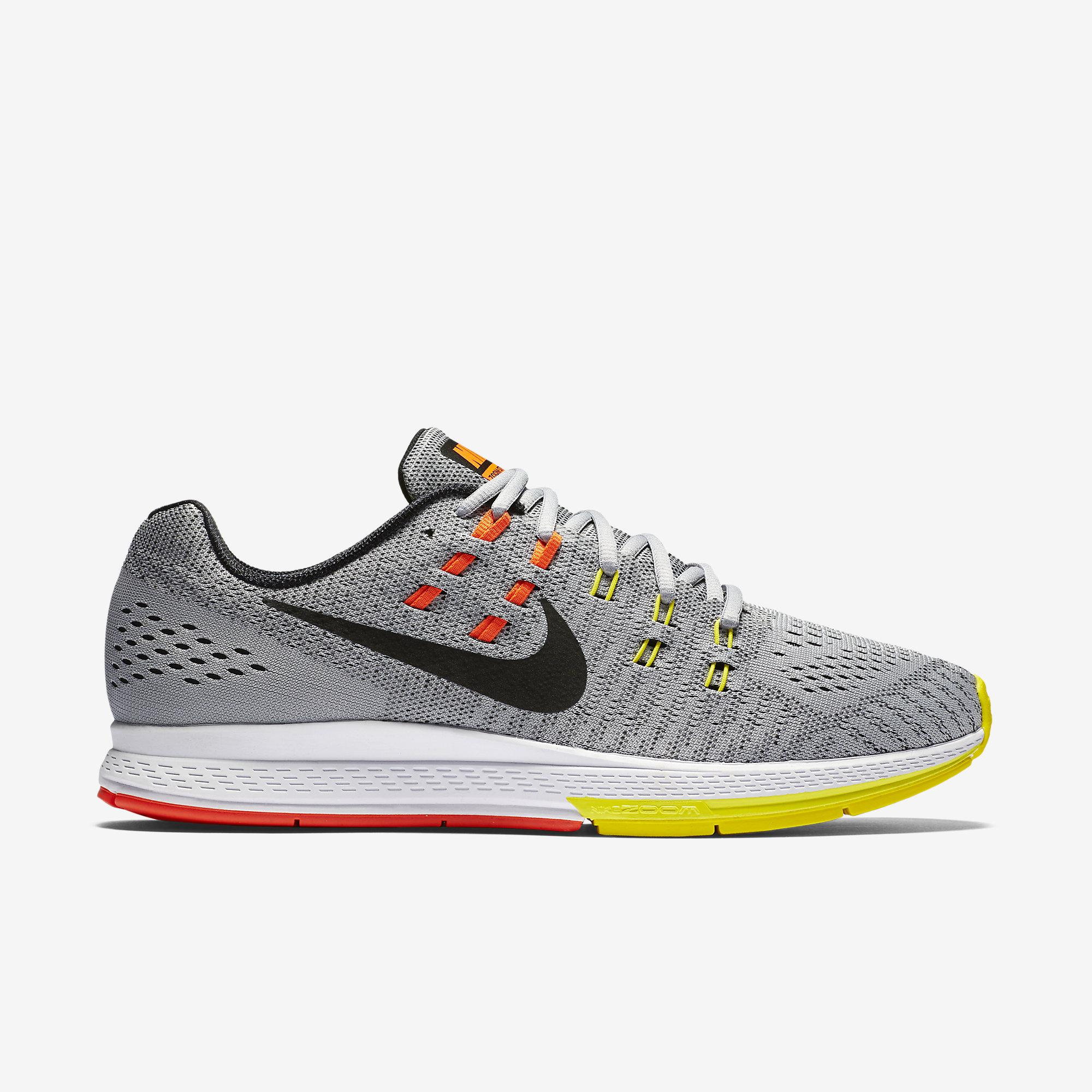 best sneakers 417db 4dbc6 Nike Mens Air Zoom Structure 19 Running Shoes - Grey Yellow - Tennisnuts.com