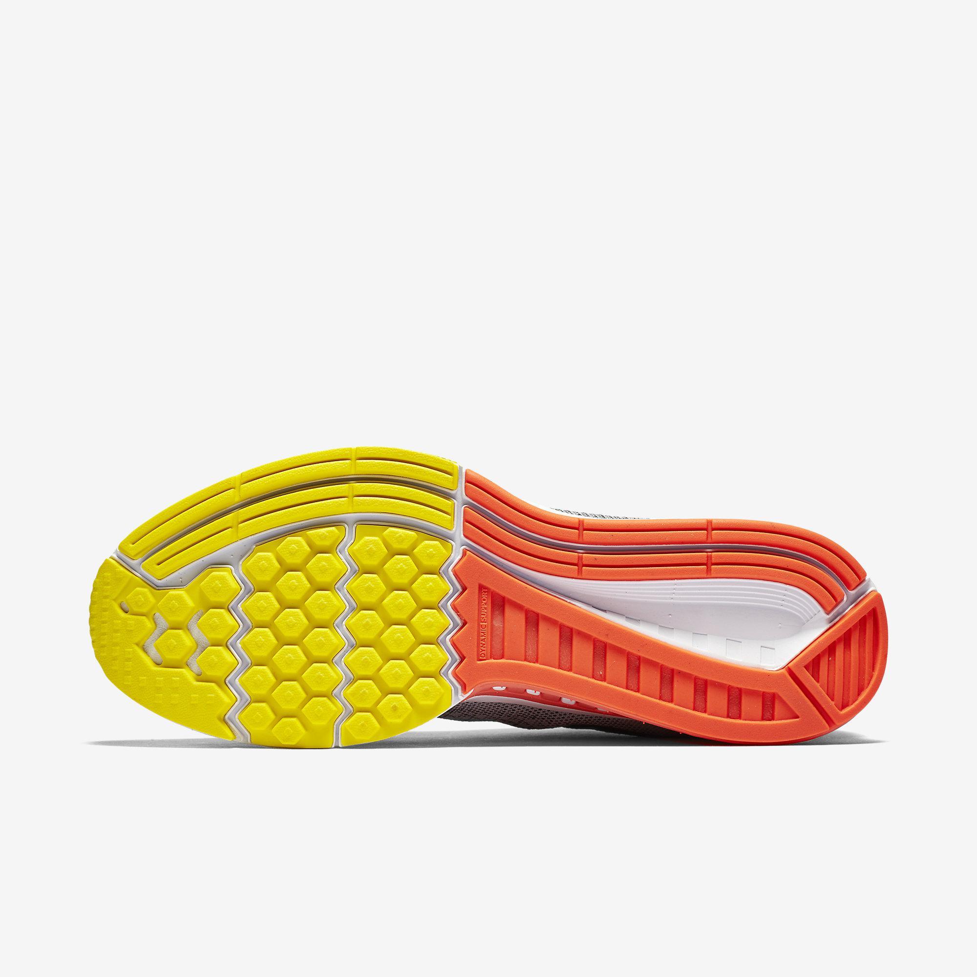 meet feb73 cf0e4 Nike Mens Air Zoom Structure 19 Running Shoes - Grey/Yellow