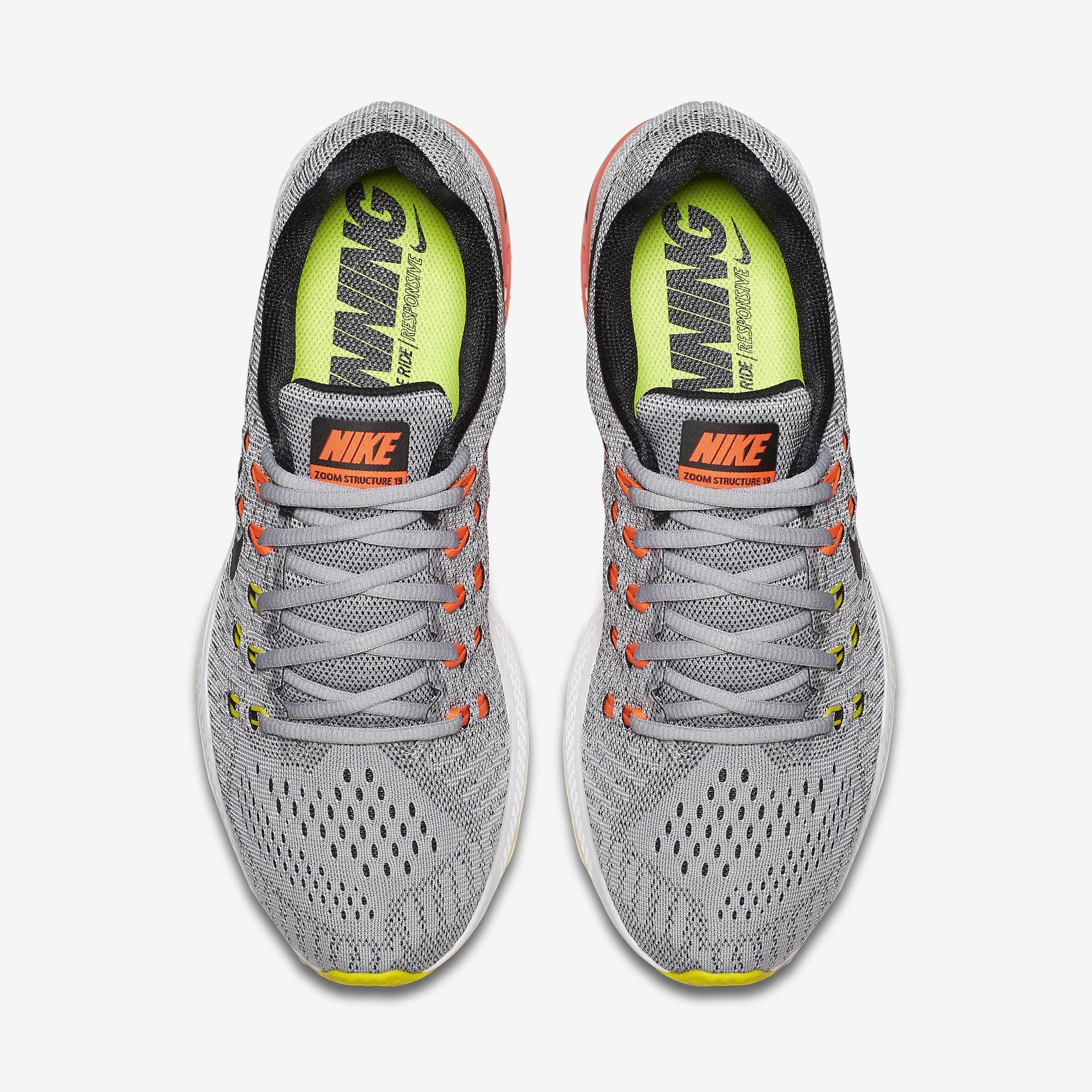 new style 8546c 84f0c Nike Mens Air Zoom Structure 19 Running .