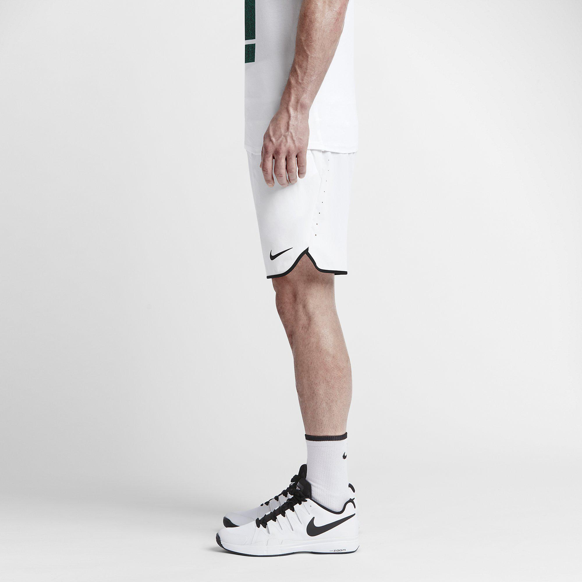 Nike Mens Flex Gladiator 9 Inch Shorts - White - Tennisnuts.com e97524c7bc