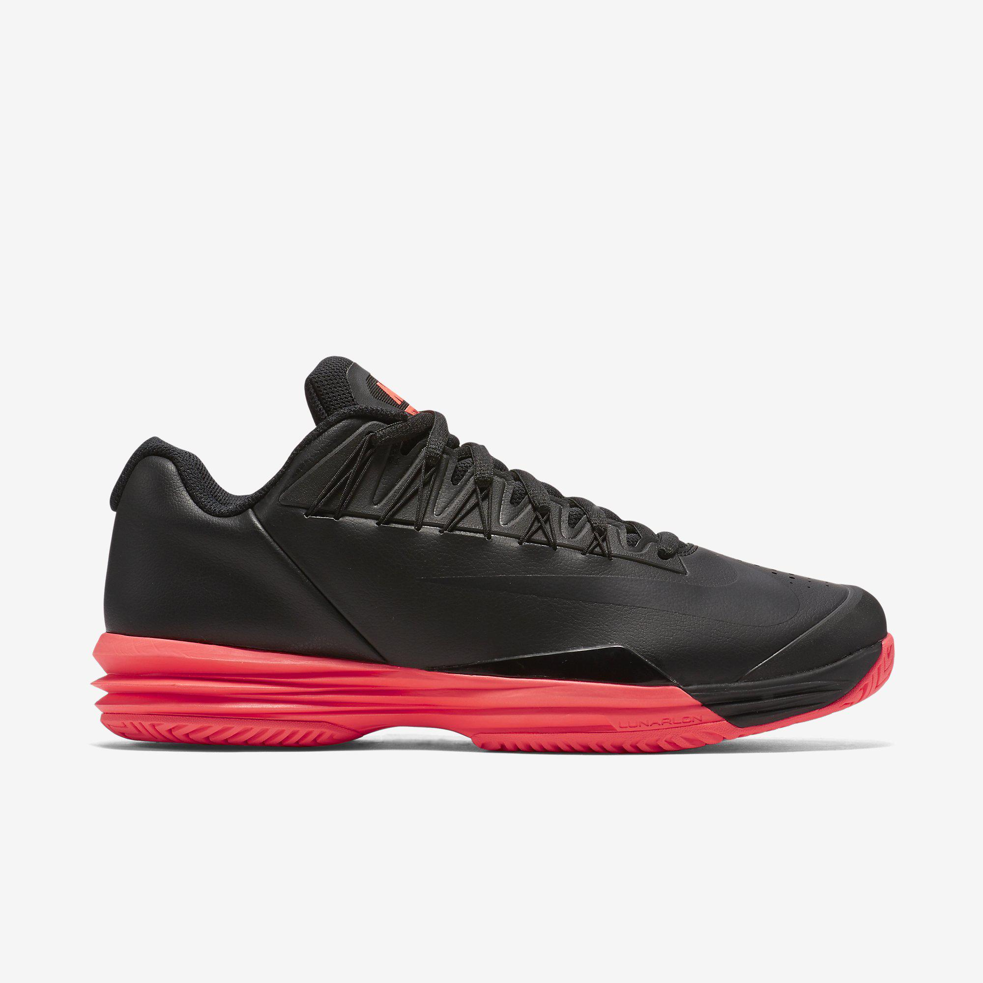 dc4dd5d7fda3 Nike Mens Lunar Ballistec 1.5 Tennis Shoes - Black Hot Lava - Tennisnuts.com