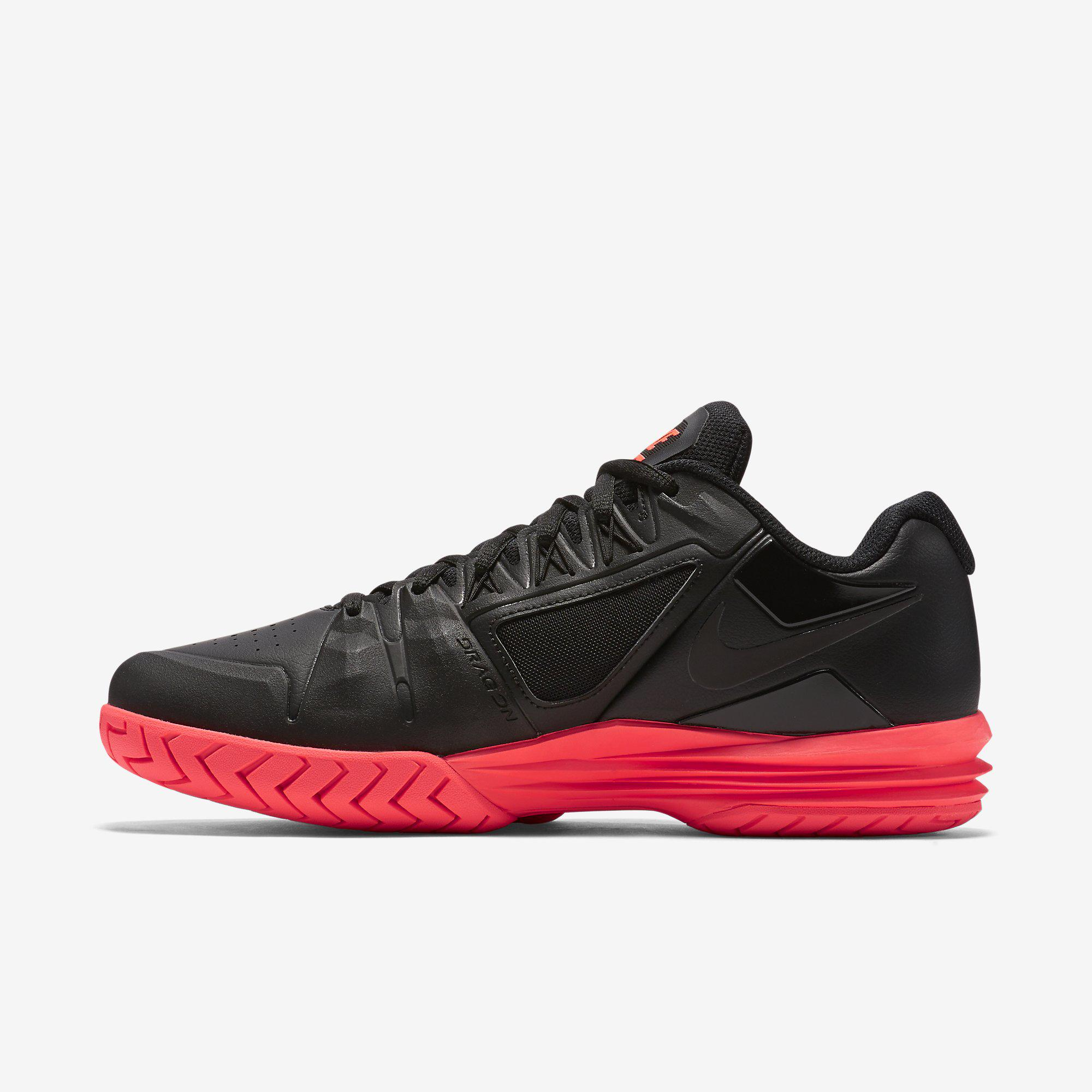 af5dec0288b9 Nike Mens Lunar Ballistec 1.5 Tennis Shoes - Black Hot Lava ...