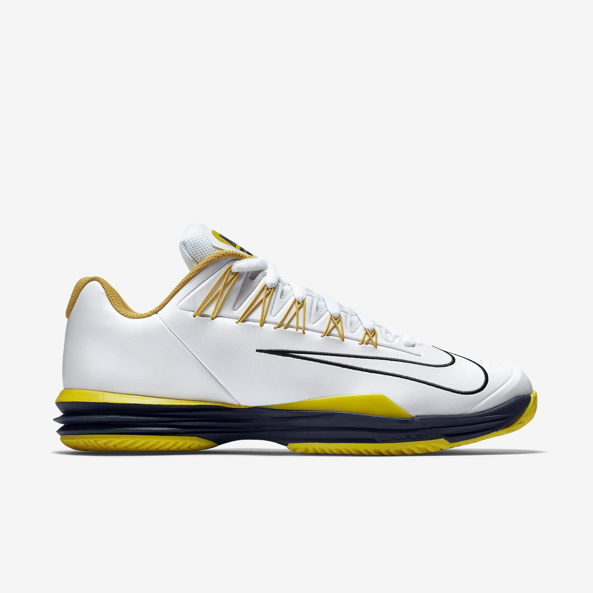 56e72d65956 Nike Mens Lunar Ballistec 1.5 Tennis Shoes - White Optical Yellow -  Tennisnuts.com
